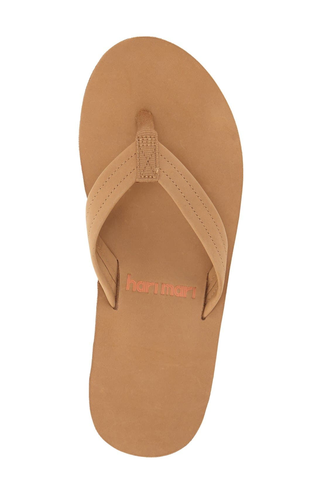 Fields Flip Flop,                             Alternate thumbnail 3, color,                             TAN/ ORANGE/ TAN