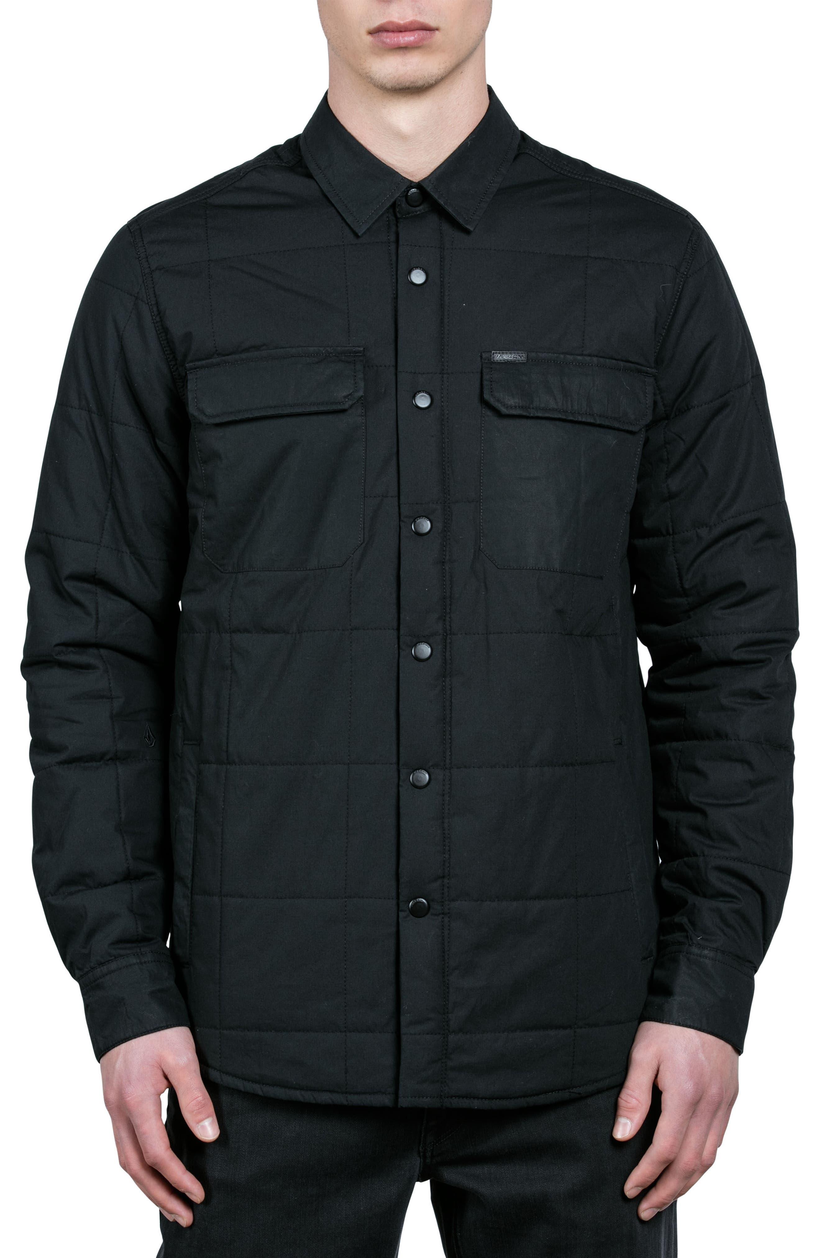 Larkin Quilted Shirt Jacket,                             Main thumbnail 1, color,                             001