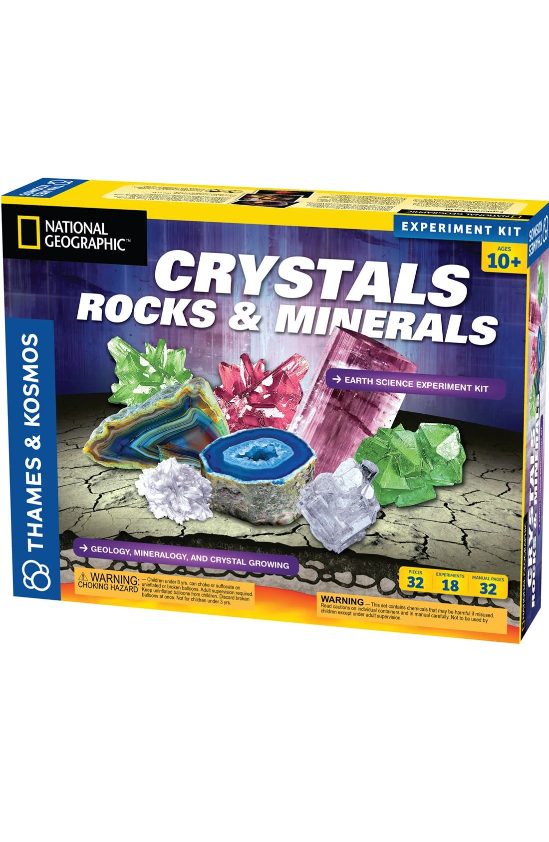 Crystal, Rocks & Minerals Experiment Kit,                         Main,                         color, 000