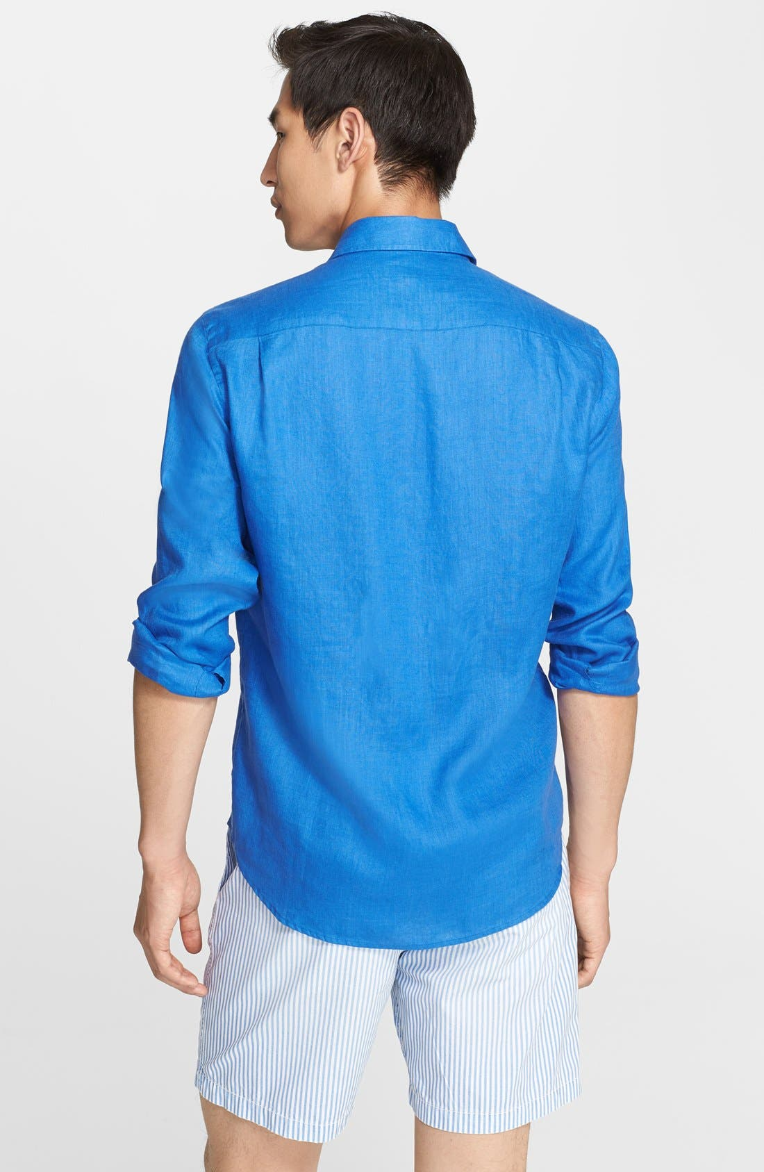 'Caroubier' Linen Shirt,                             Alternate thumbnail 25, color,