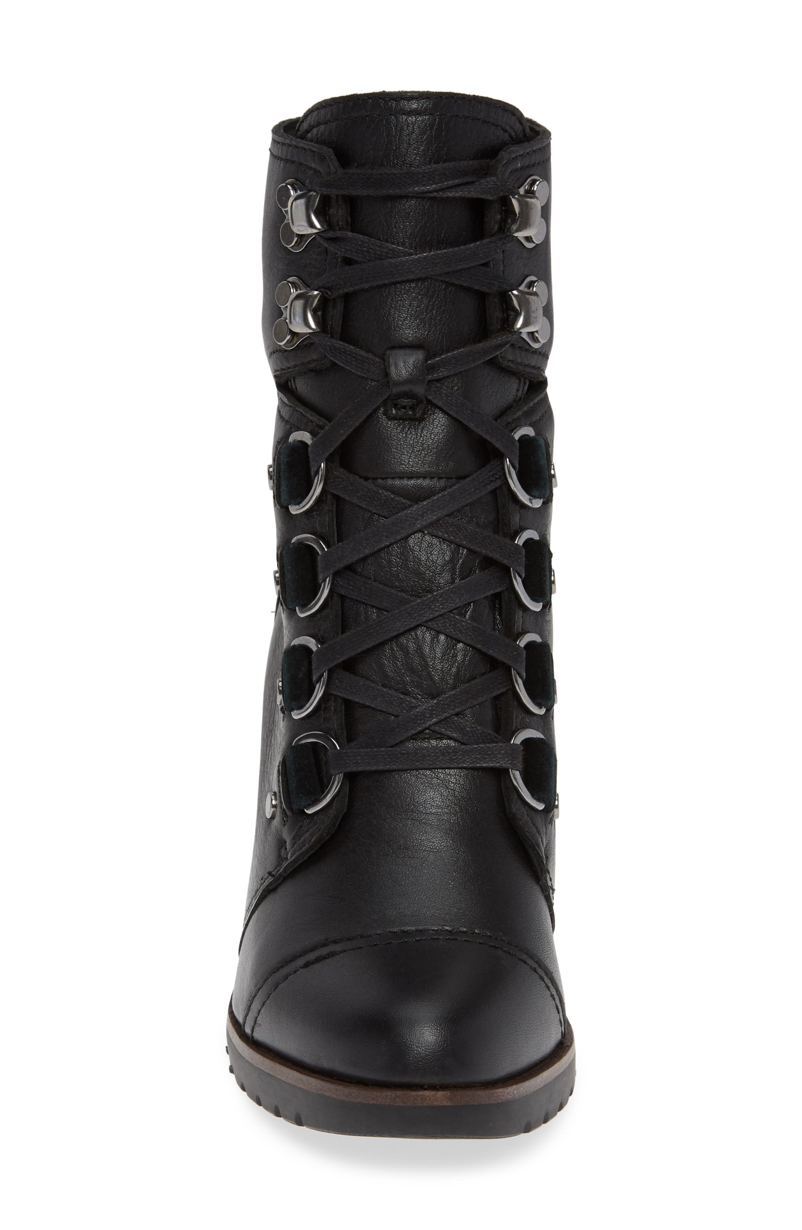 After Hours Lace-Up Waterproof Boot,                             Alternate thumbnail 4, color,                             010