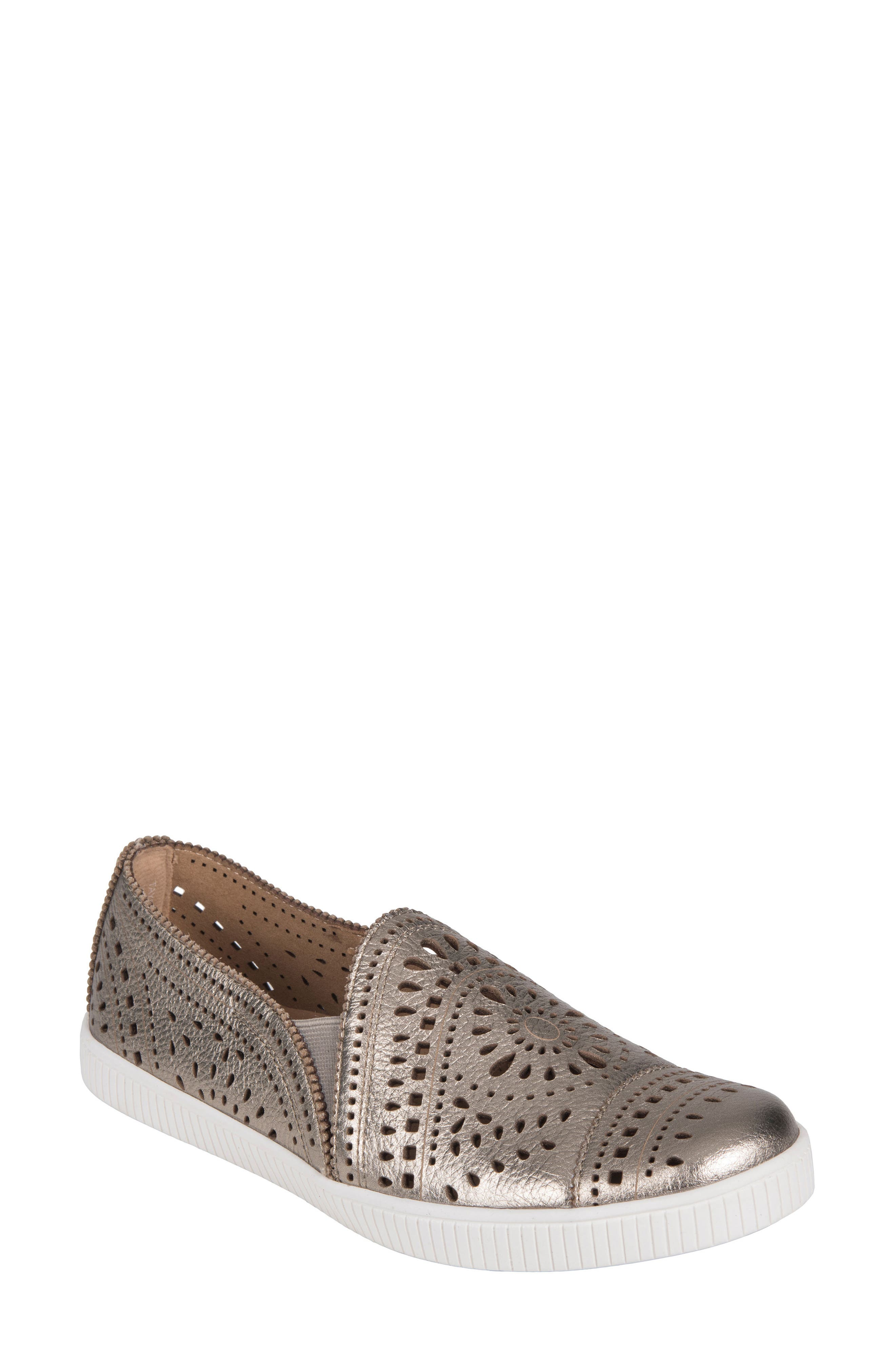 Tayberry Perforated Slip-On Sneaker,                             Main thumbnail 4, color,
