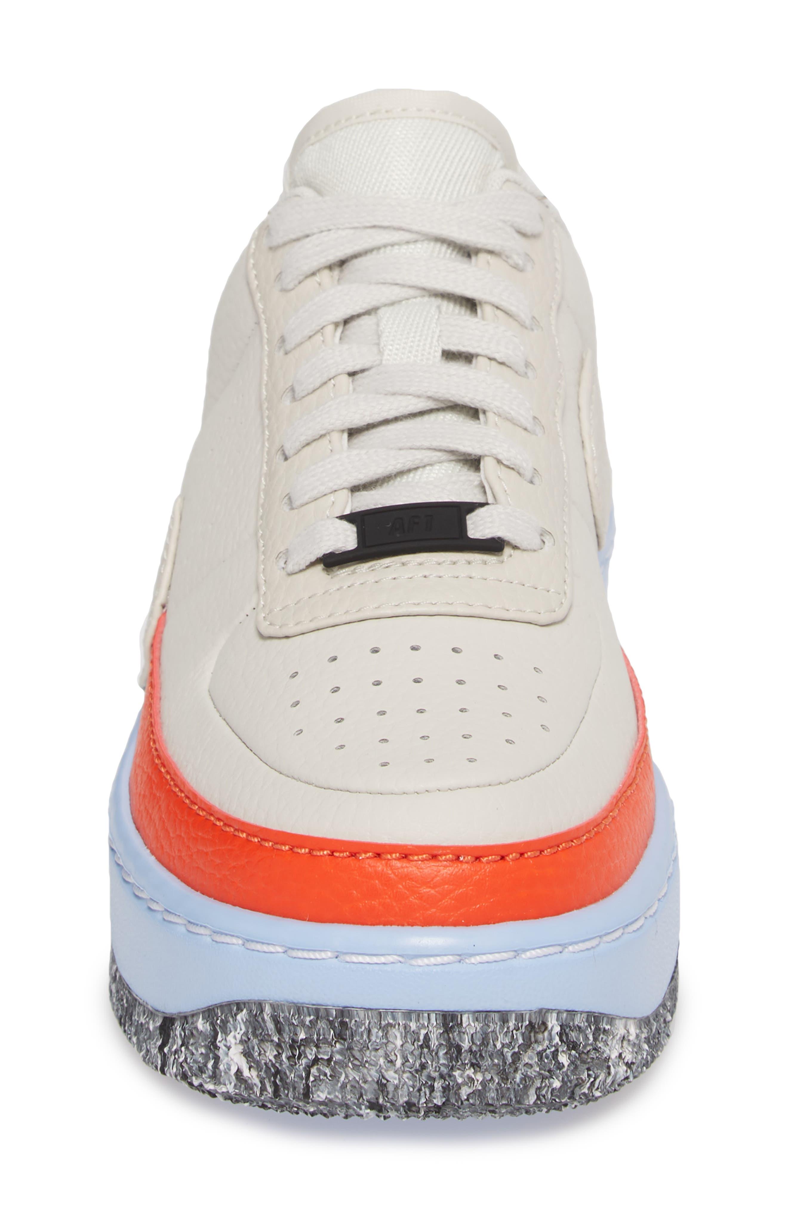 Air Force 1 Jester XX Sneaker,                             Alternate thumbnail 4, color,                             LIGHT BONE/ TEAM ORANGE