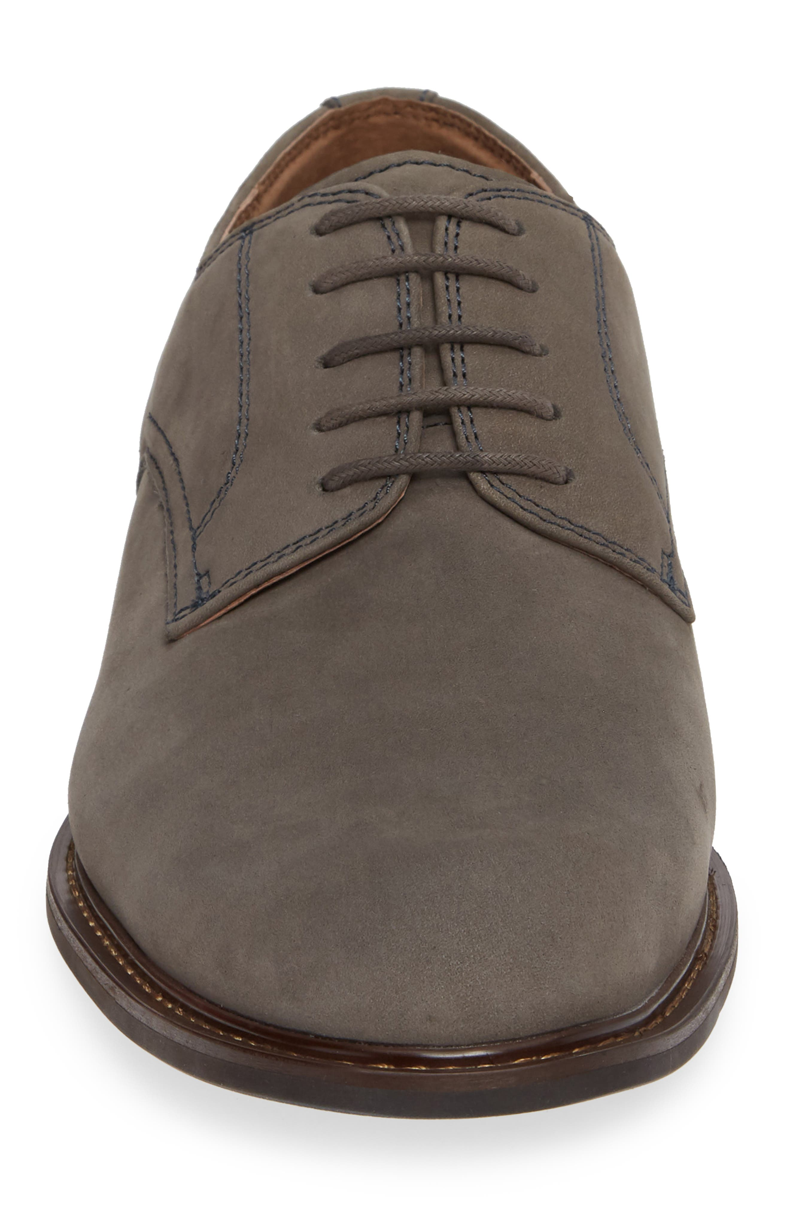 Richland Buck Shoe,                             Alternate thumbnail 4, color,                             GREY SUEDE