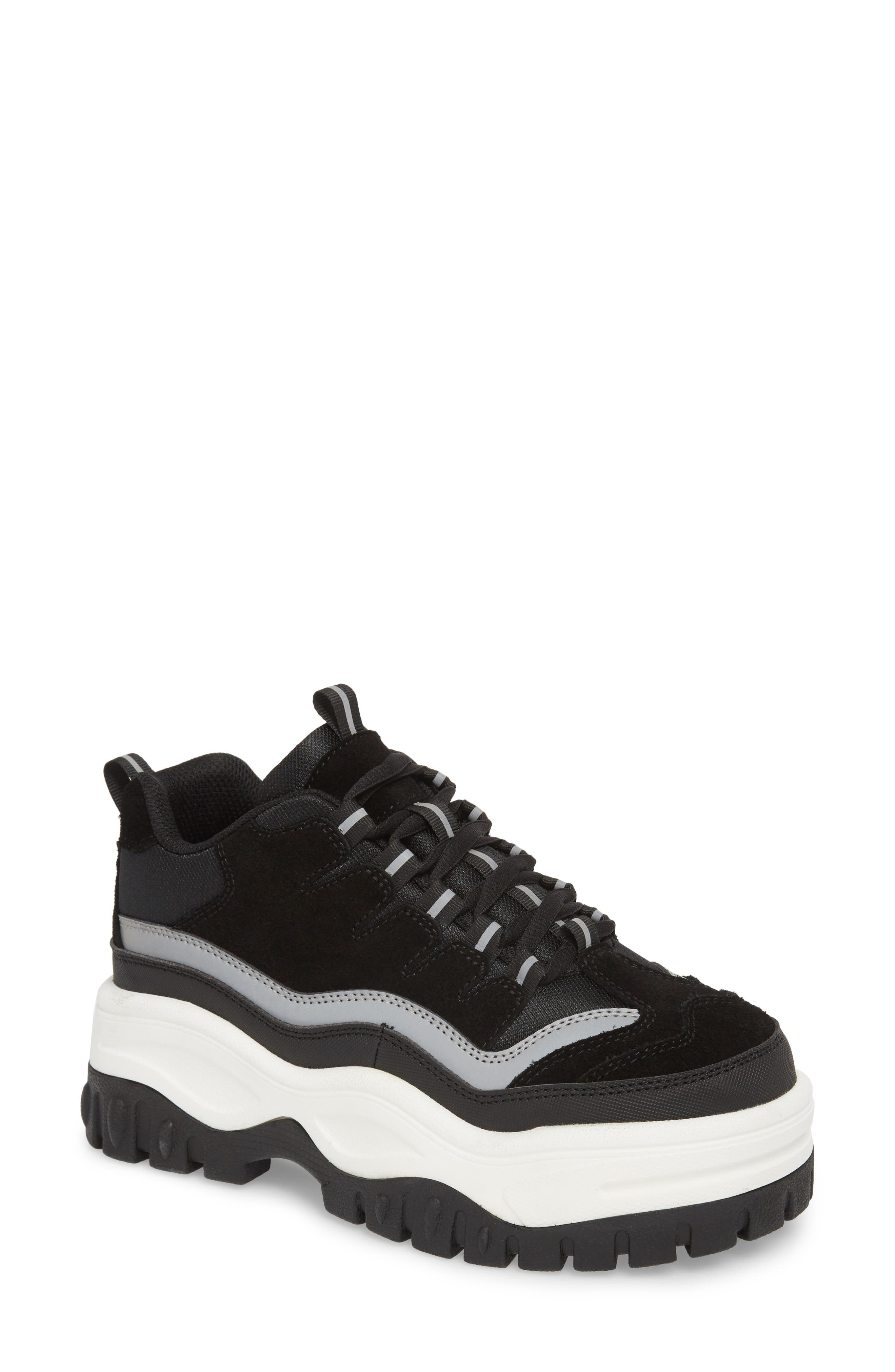 Pro Era Platform Sneaker,                             Main thumbnail 1, color,                             BLACK SUEDE REFLECTIVE