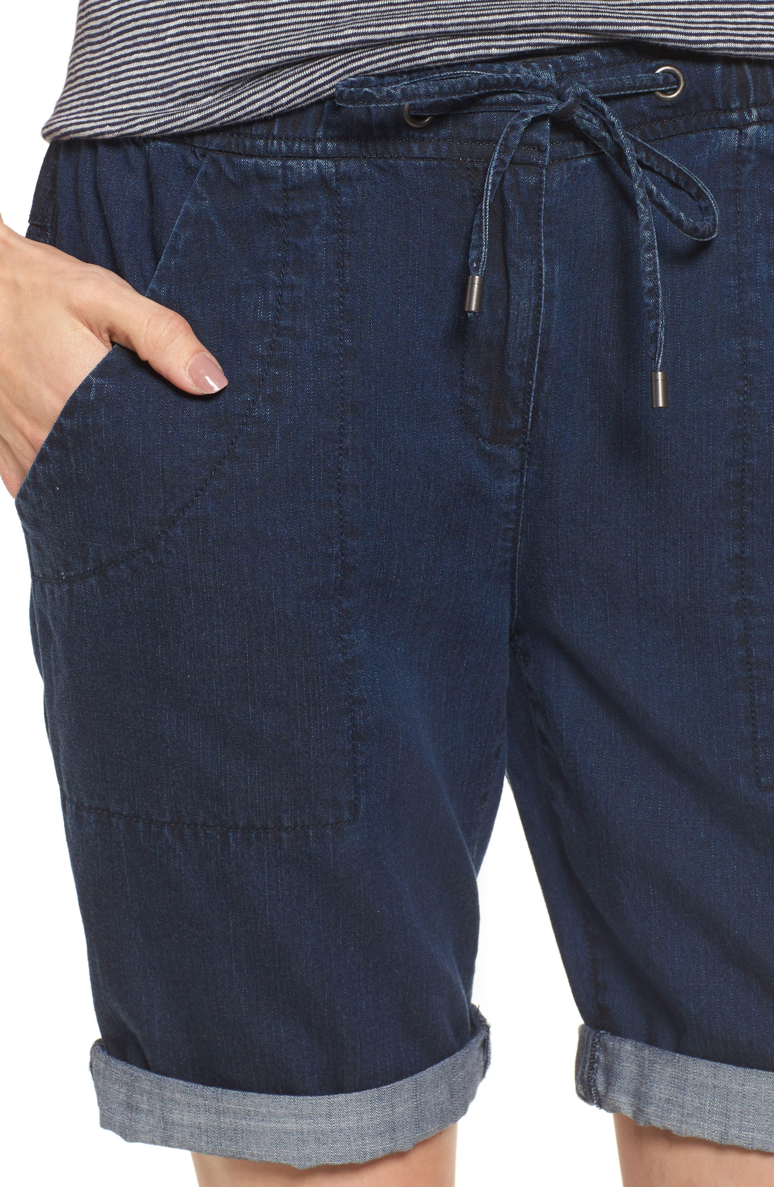 Tencel<sup>®</sup> Lyocell & Organic Cotton Walking Shorts,                             Alternate thumbnail 4, color,                             419