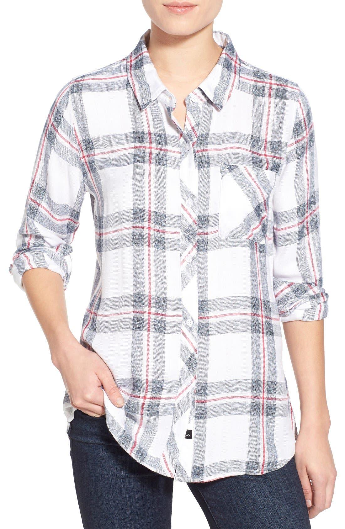 'Hunter' Plaid Shirt, Main, color, 112