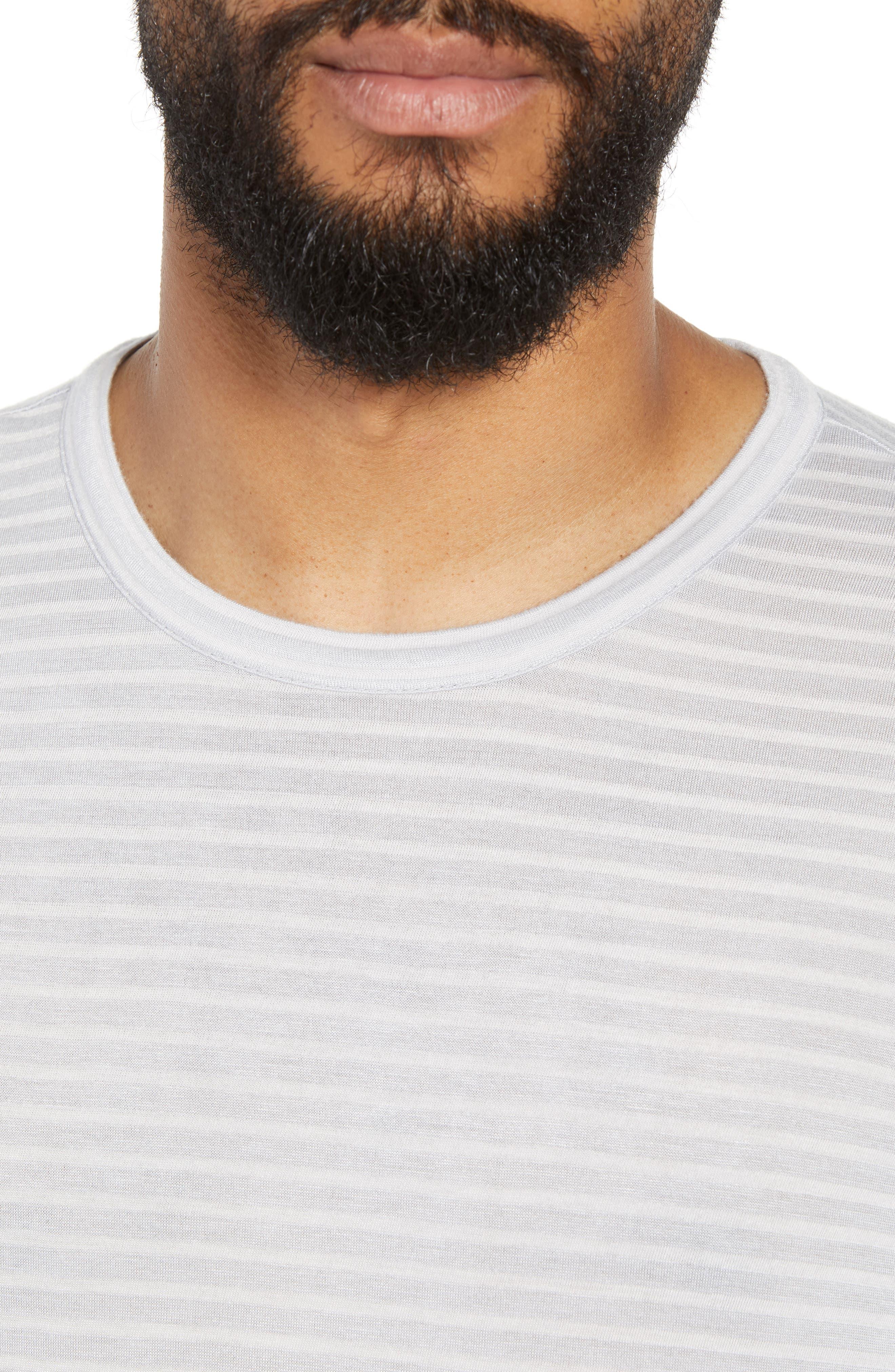 Texture Stripe Long Sleeve T-Shirt,                             Alternate thumbnail 4, color,                             050