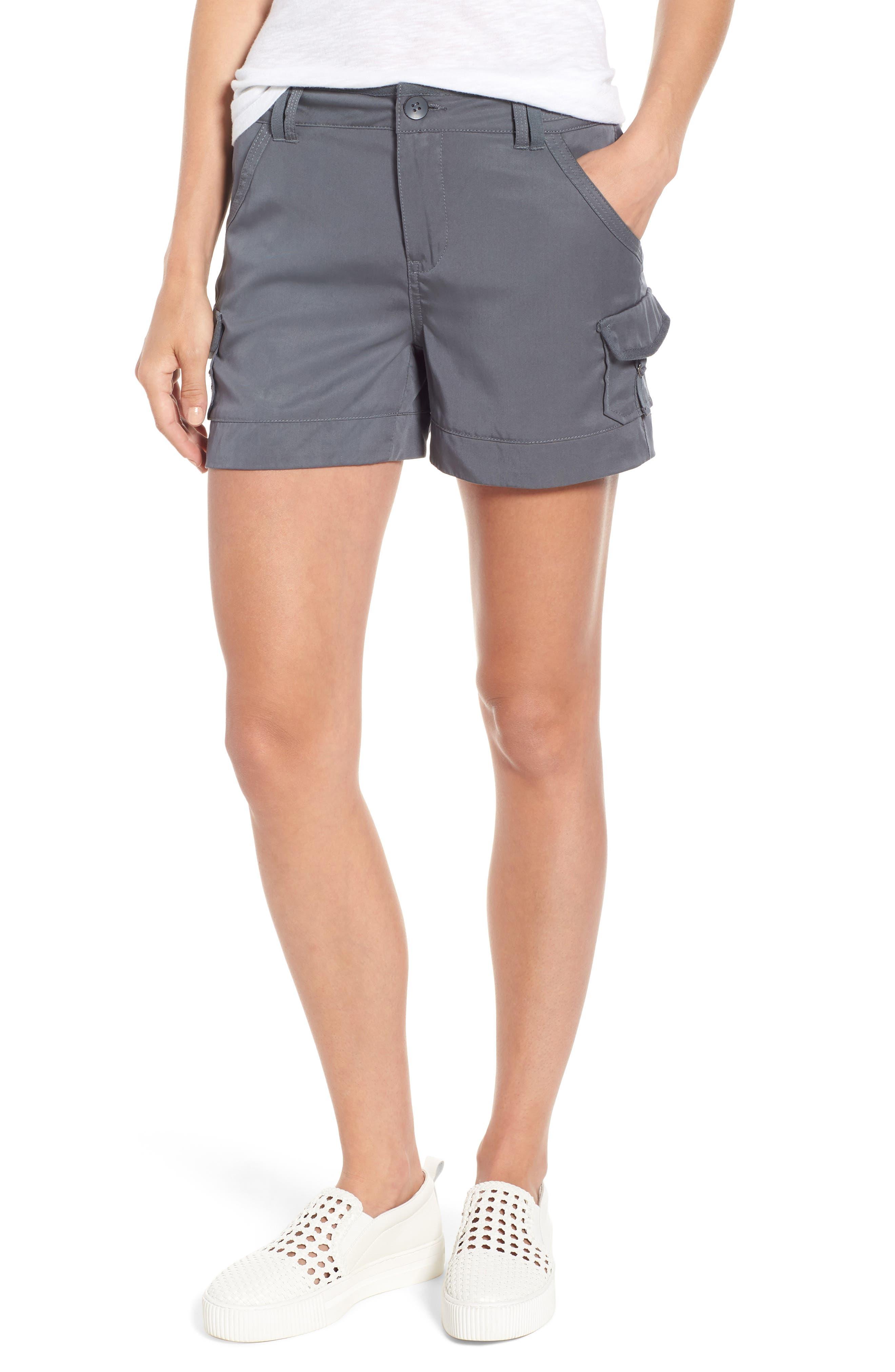 High Rise Tencel Shorts,                             Main thumbnail 2, color,
