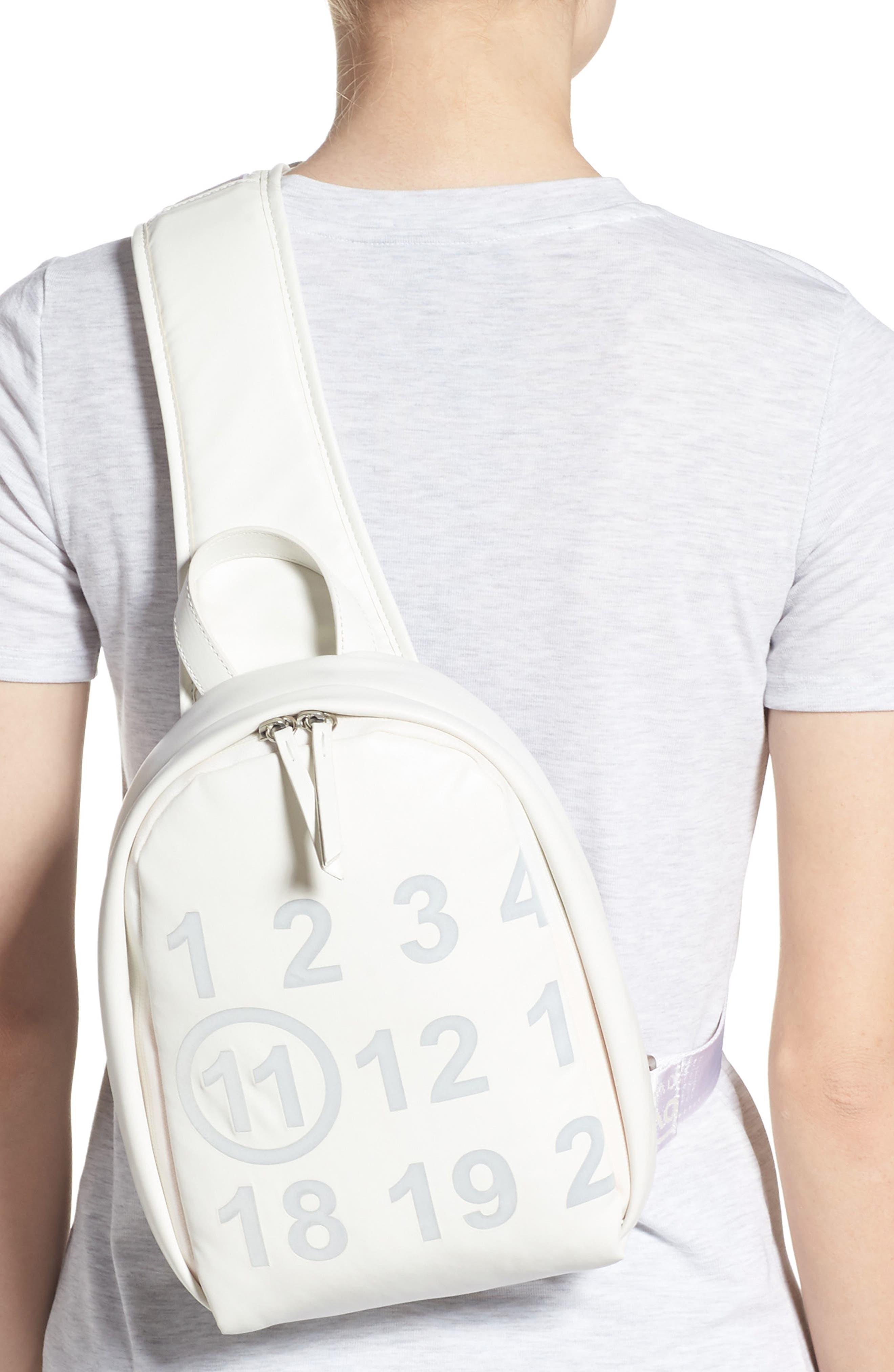 MAISON MARGIELA,                             Mini Backpack,                             Alternate thumbnail 2, color,                             WHITE