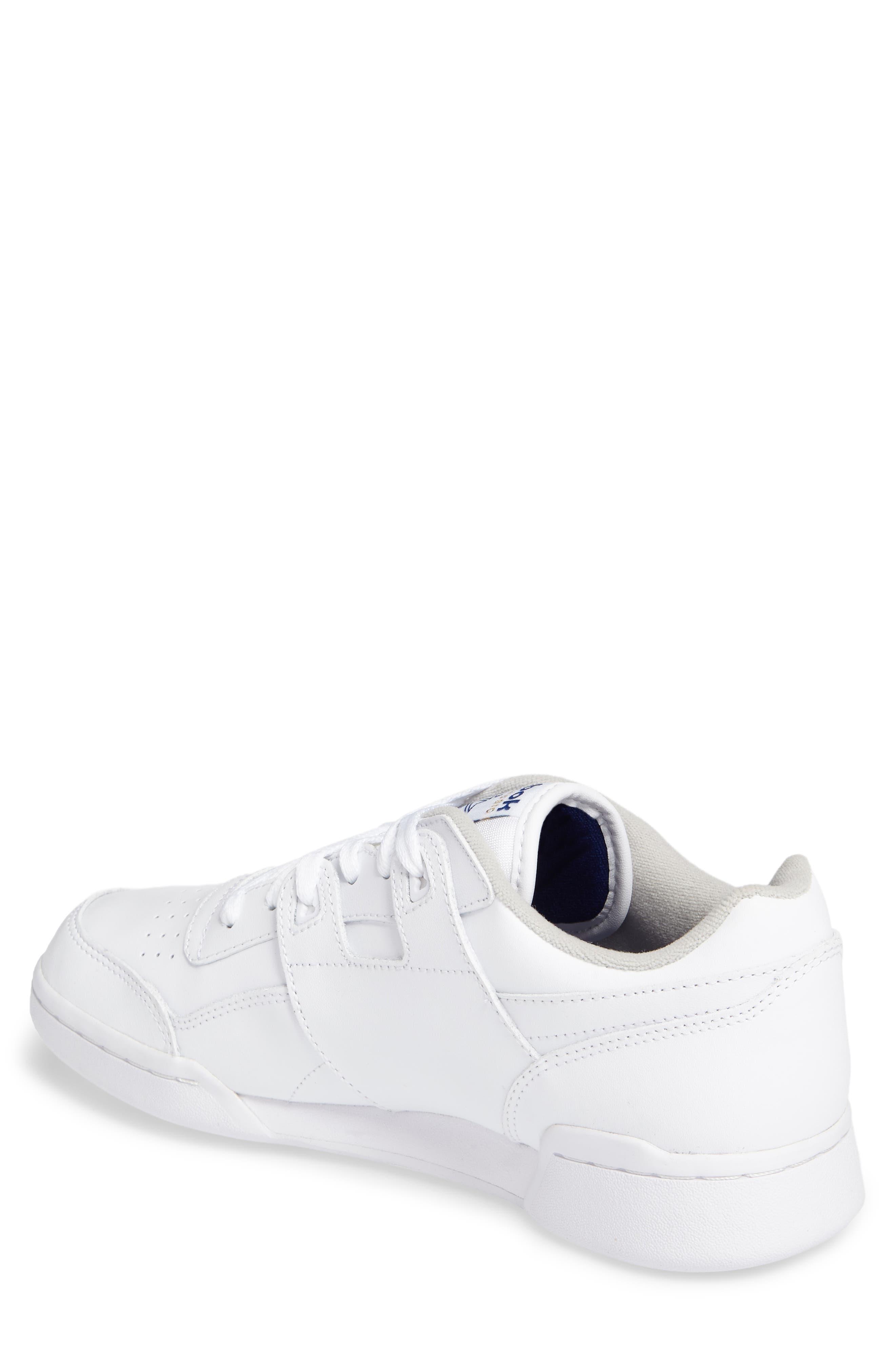 Workout Plus Sneaker,                             Alternate thumbnail 2, color,                             WHITE/ ROYAL