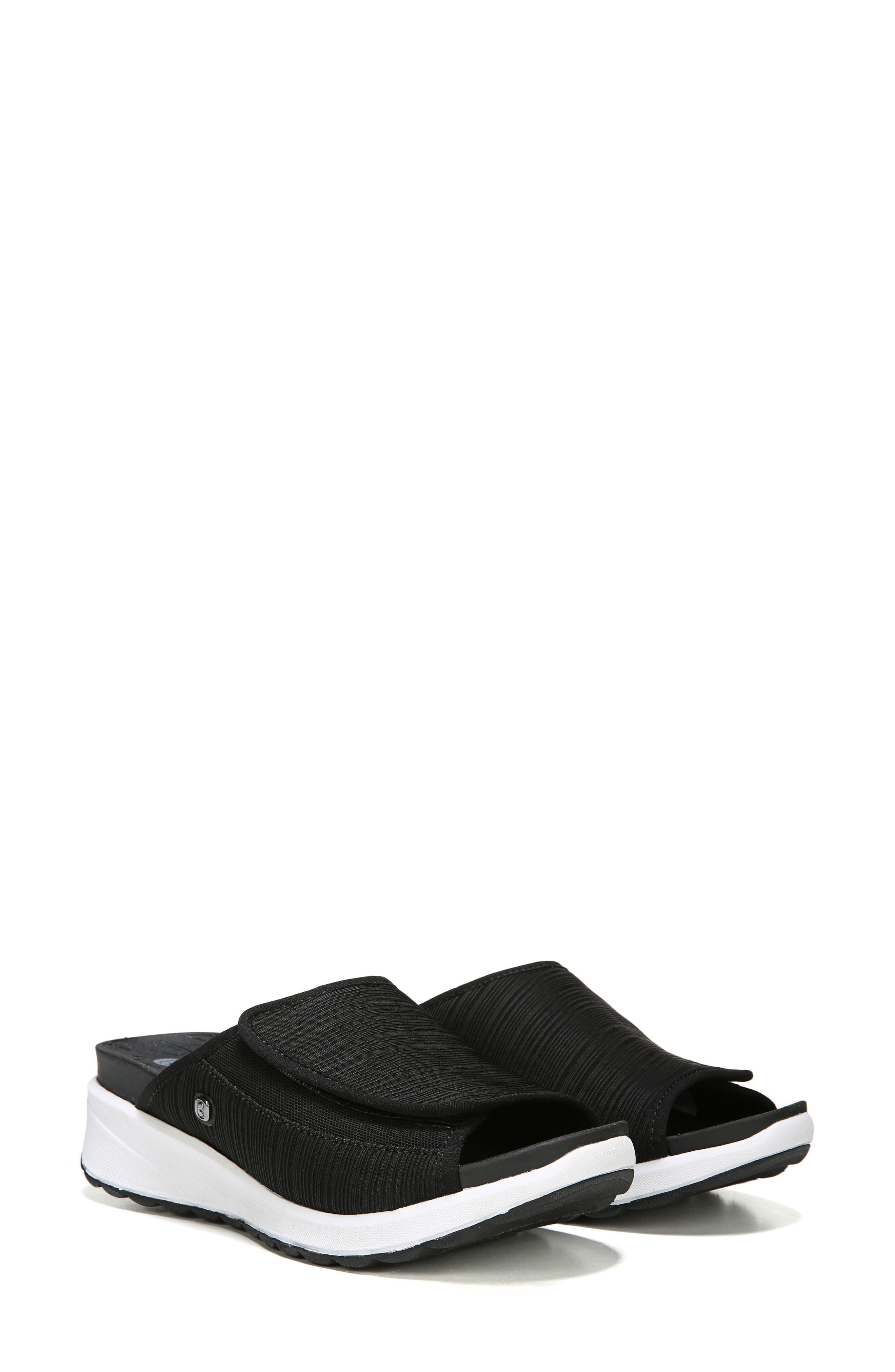 Galaxy Slide Sandal,                             Alternate thumbnail 7, color,                             BLACK FABRIC
