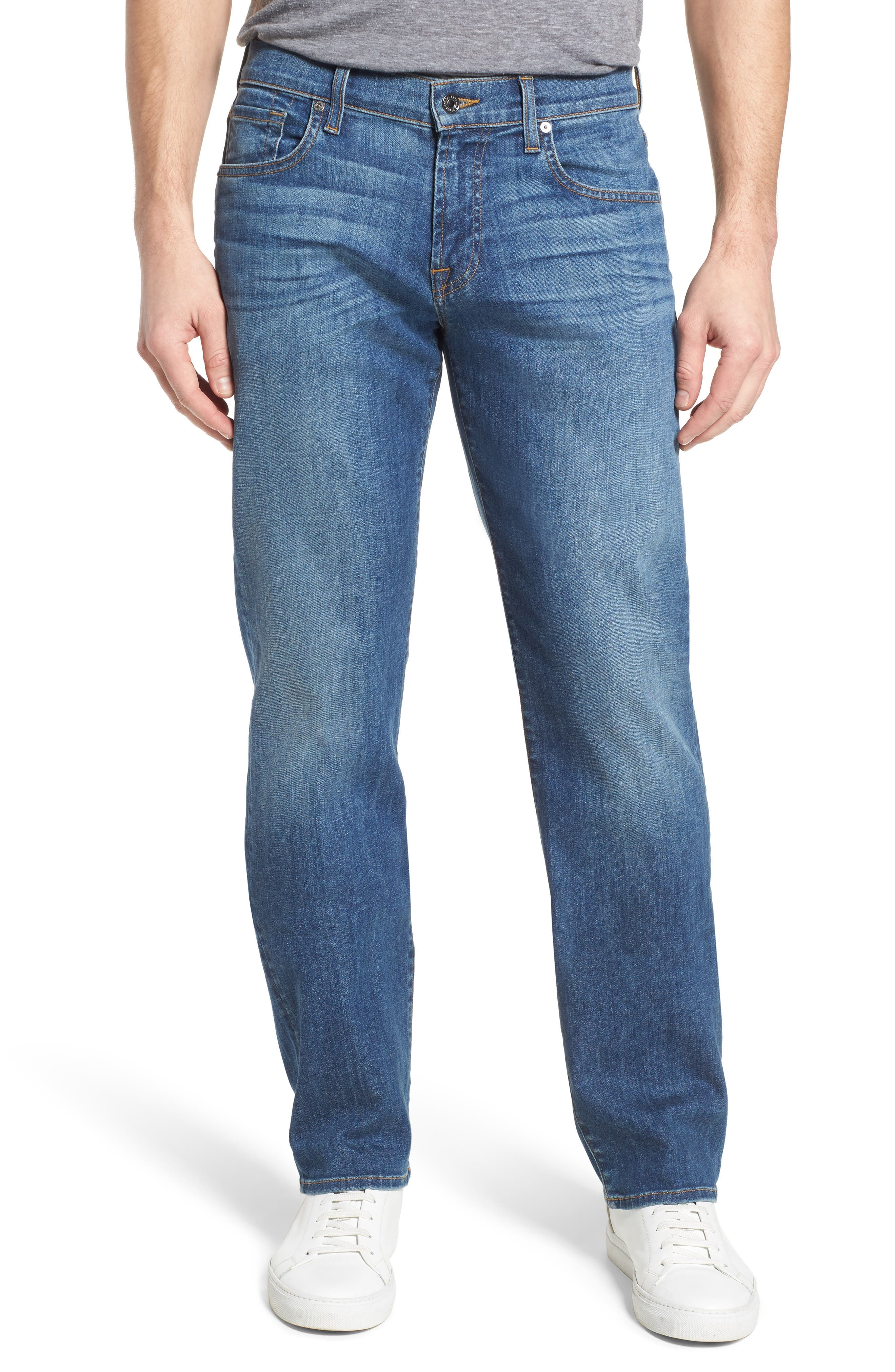 The Standard Straight Fit Jeans,                         Main,                         color, 401
