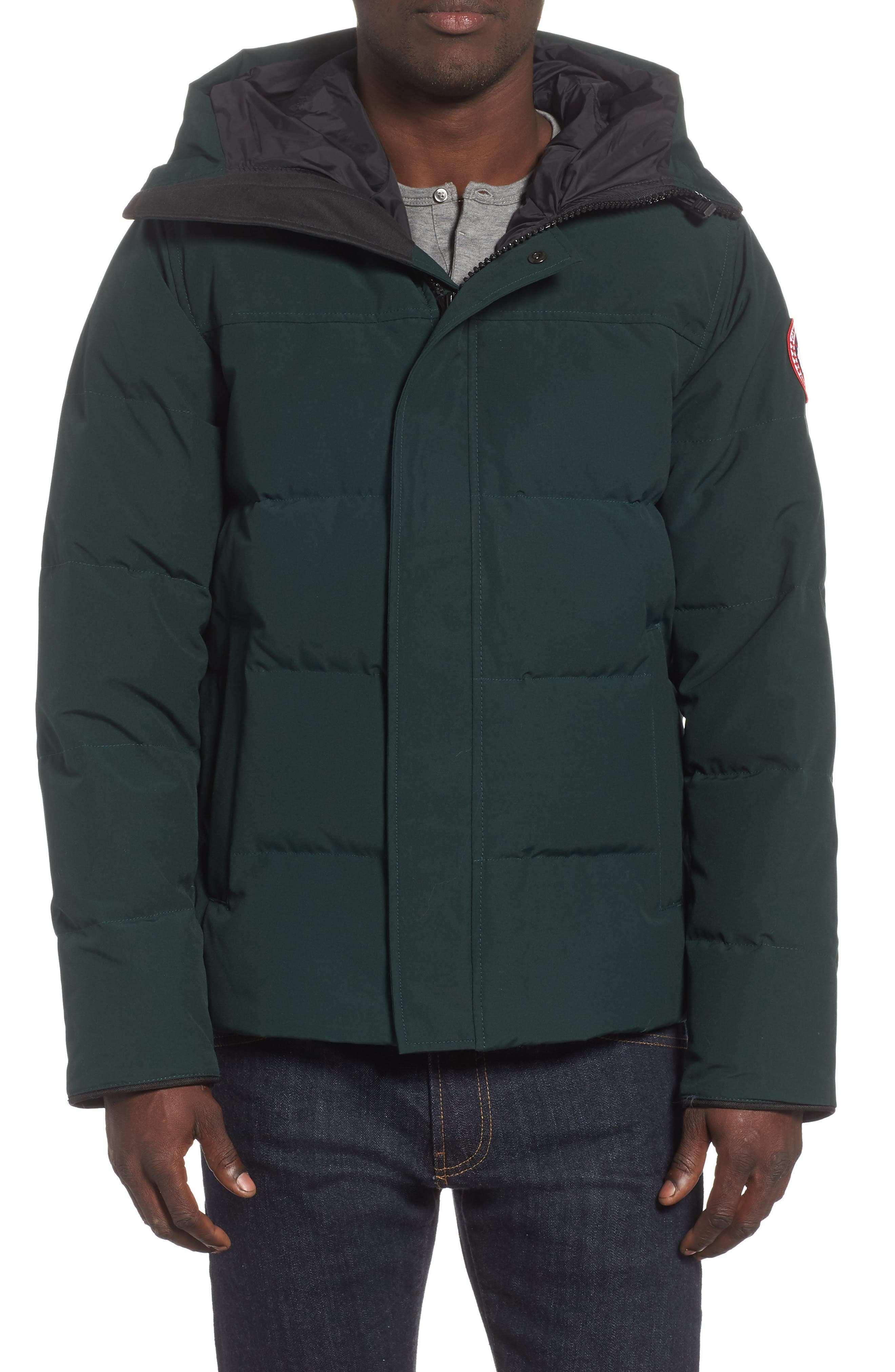 'MacMillan' Slim Fit Hooded Parka,                             Main thumbnail 1, color,                             SPRUCE