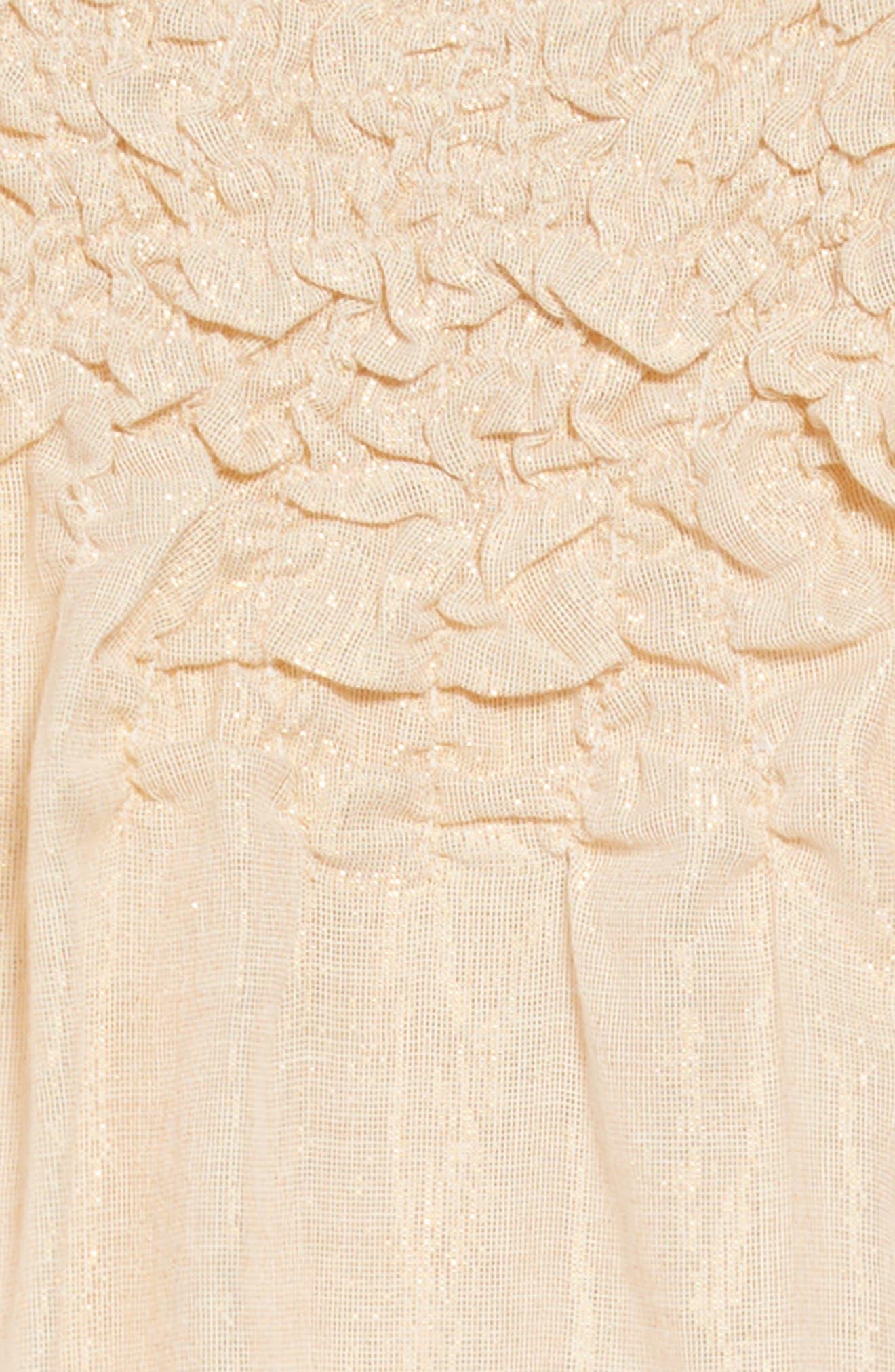 Rosie Sparkle Dress,                             Alternate thumbnail 3, color,                             METALLIC GOLD