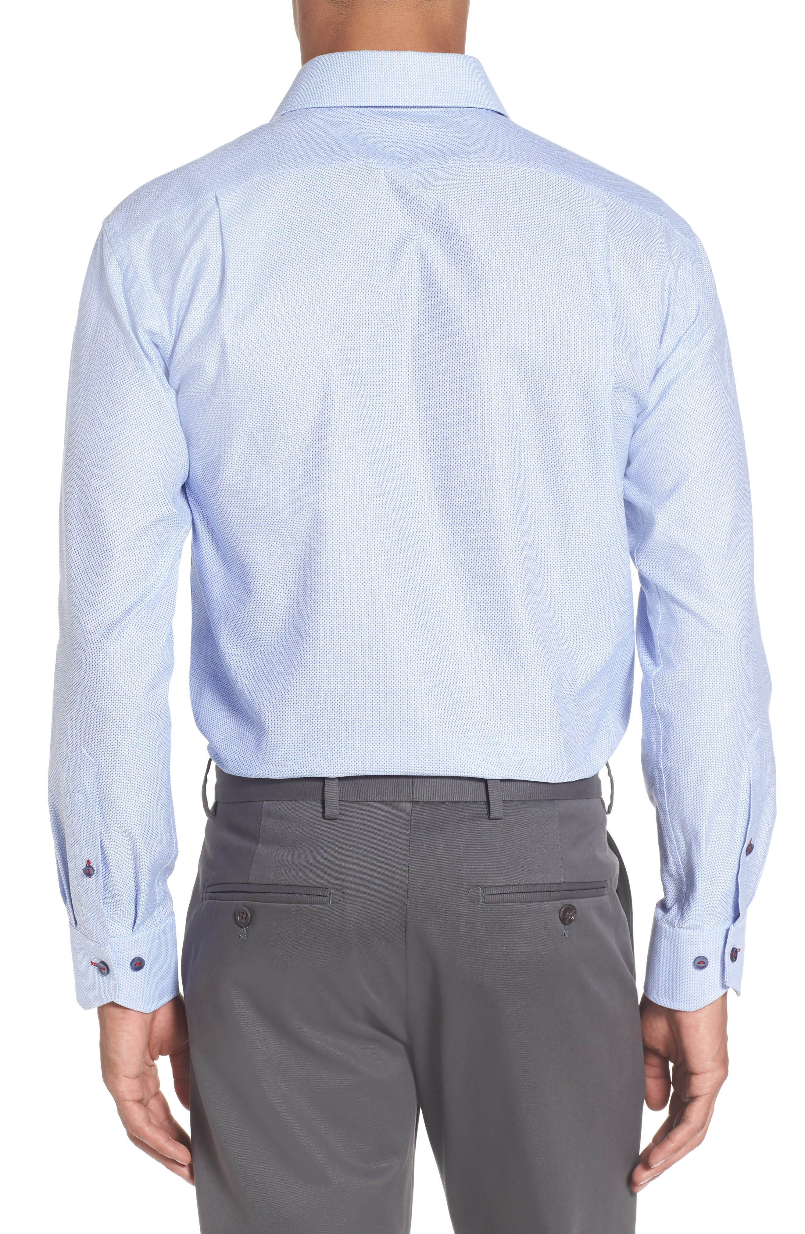 Trim Fit Geometric Dress Shirt,                             Alternate thumbnail 2, color,                             450