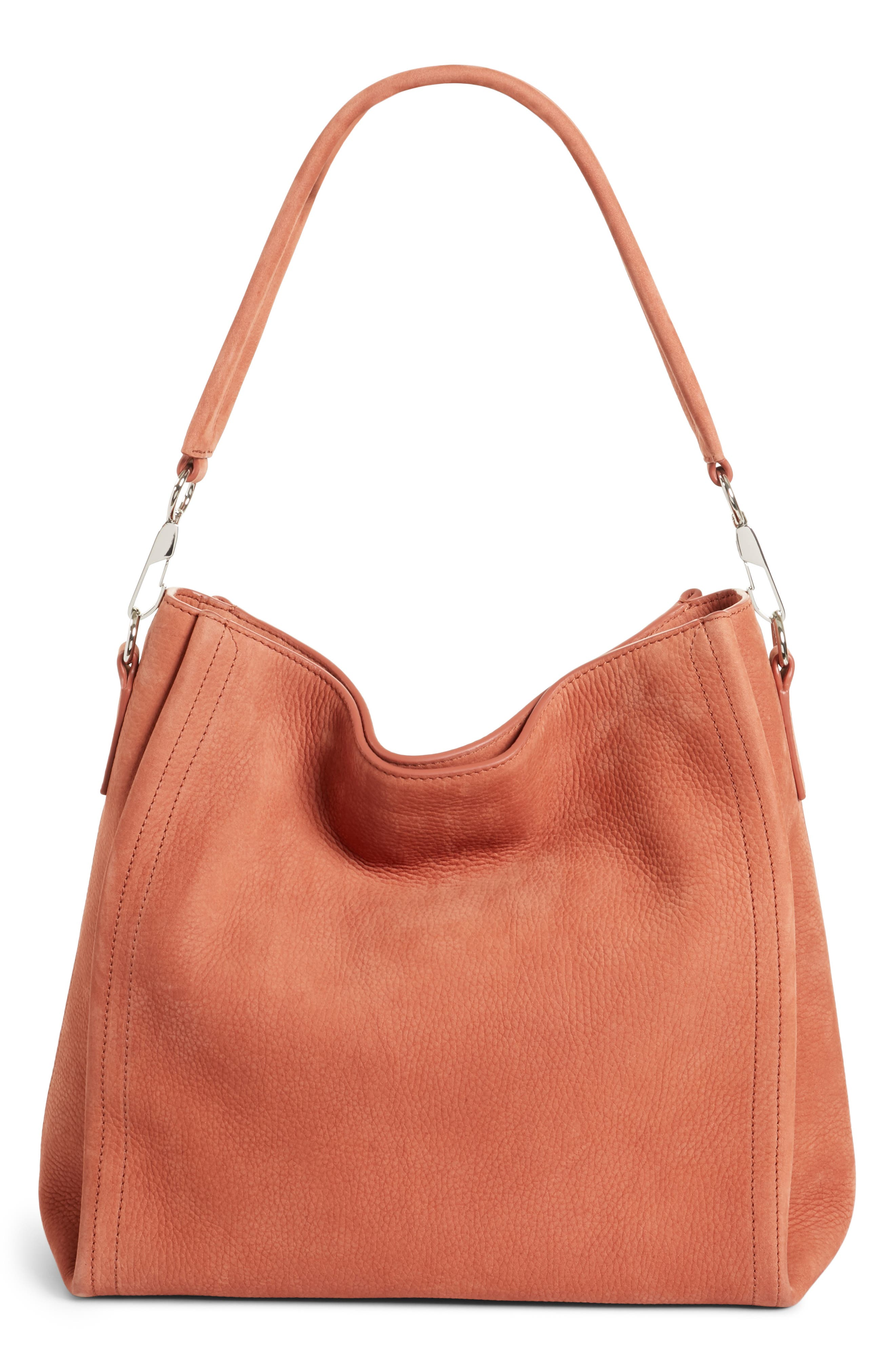 Darcy Pebbled Leather Hobo,                             Alternate thumbnail 3, color,                             200