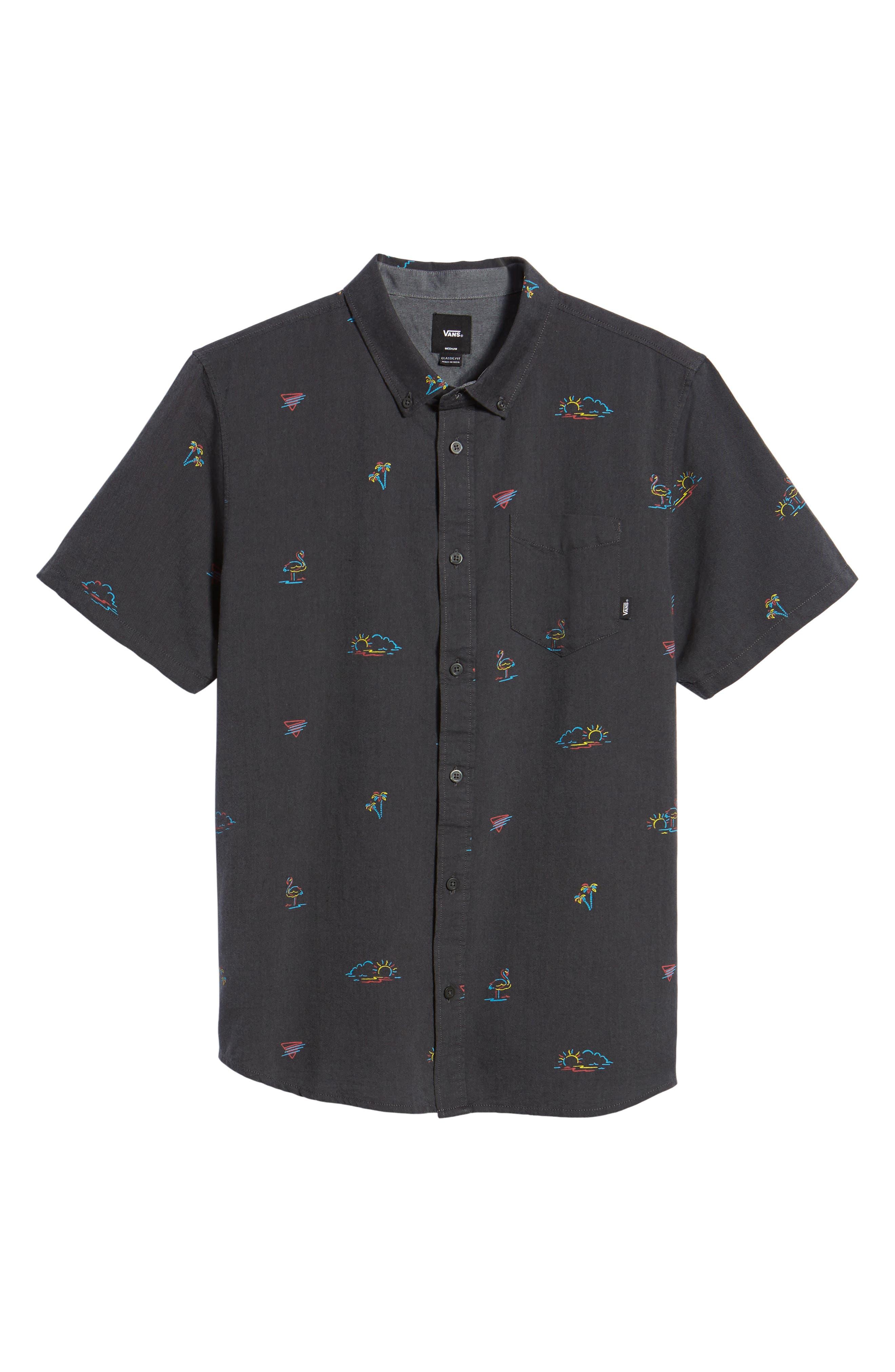 Houser Woven Shirt,                             Alternate thumbnail 6, color,                             001