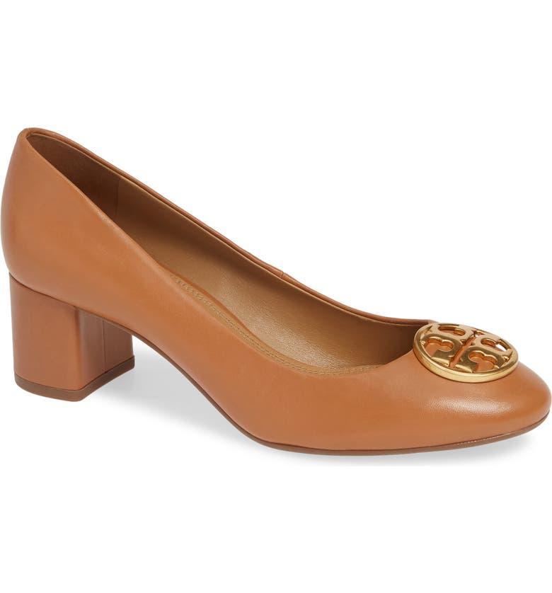 4a4d2a8ed04 Tory Burch Women S Chelsea Block-Heel Pumps In Royal Tan