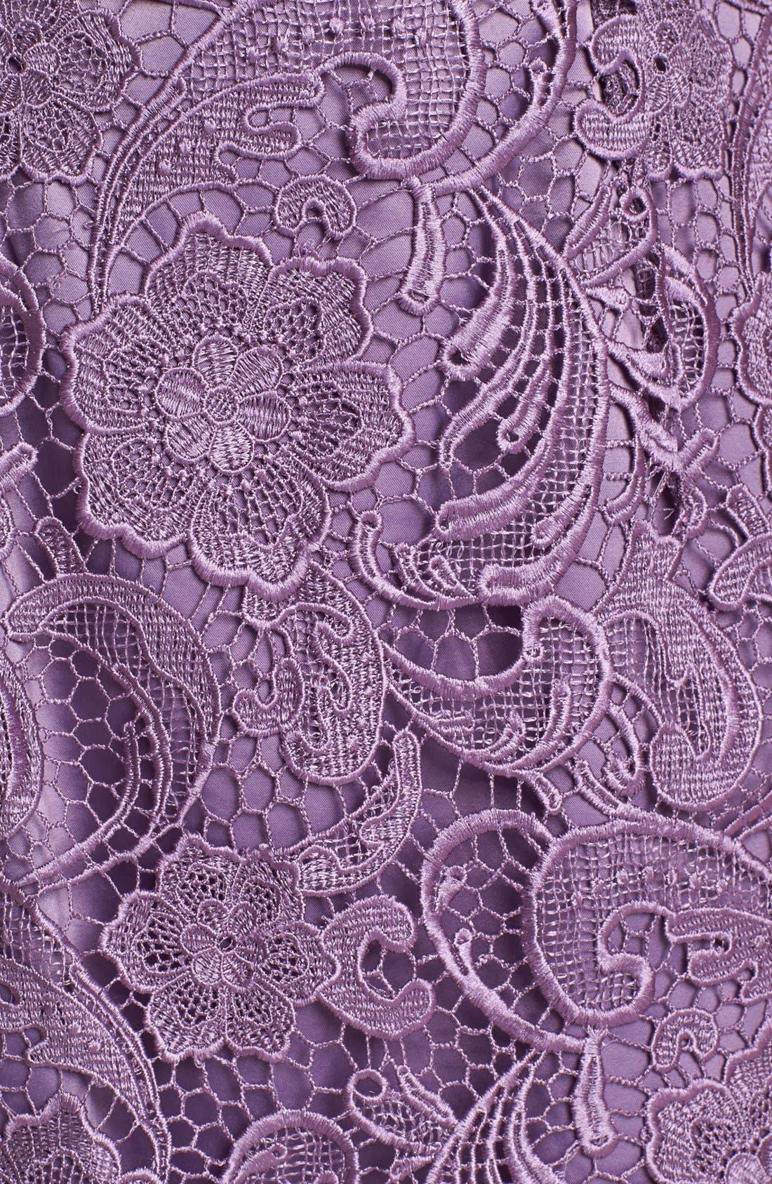 Illusion Bodice Lace Sheath Dress,                             Alternate thumbnail 29, color,
