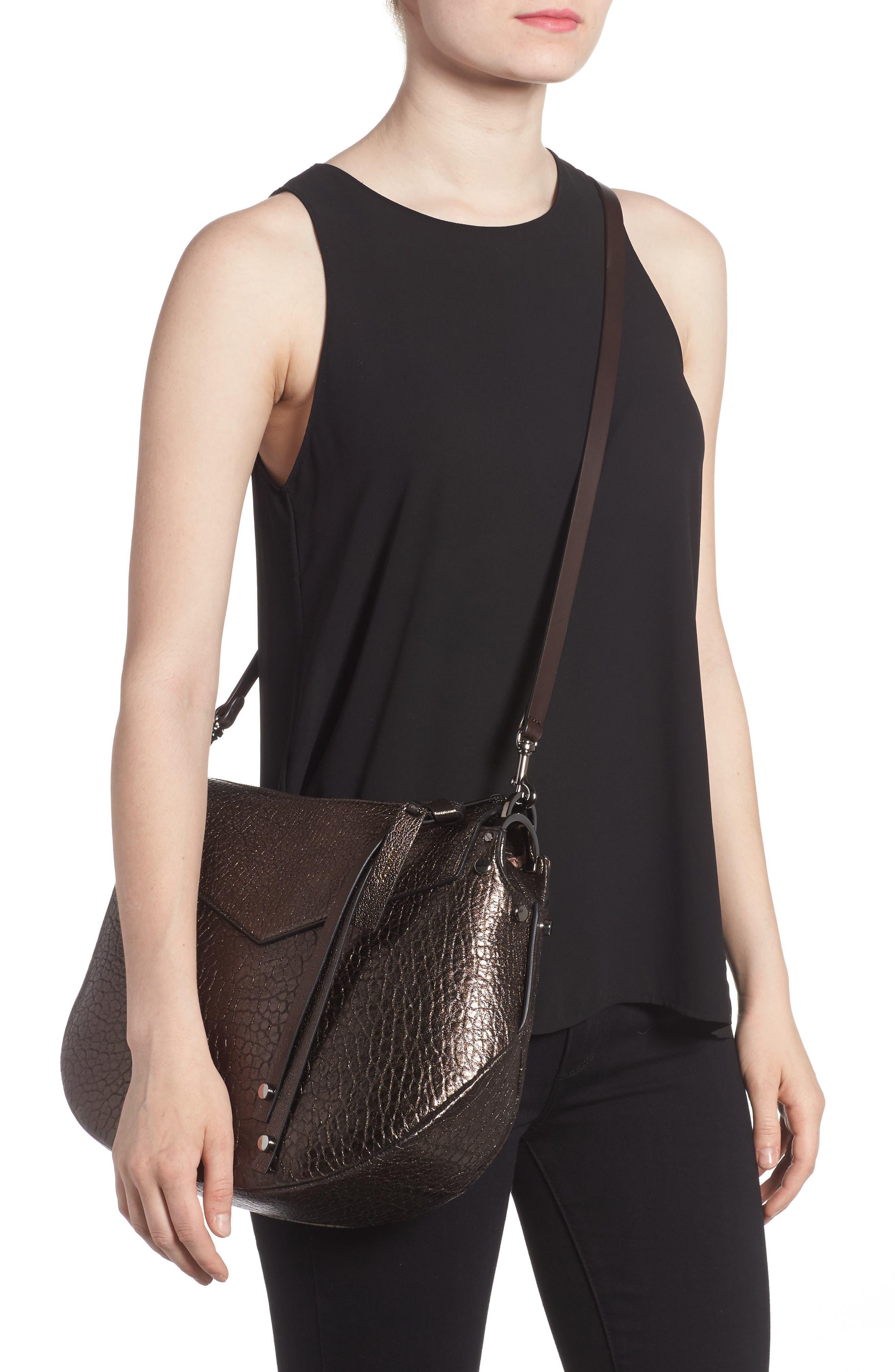 Artie Metallic Leather Hobo Bag,                             Alternate thumbnail 2, color,                             200
