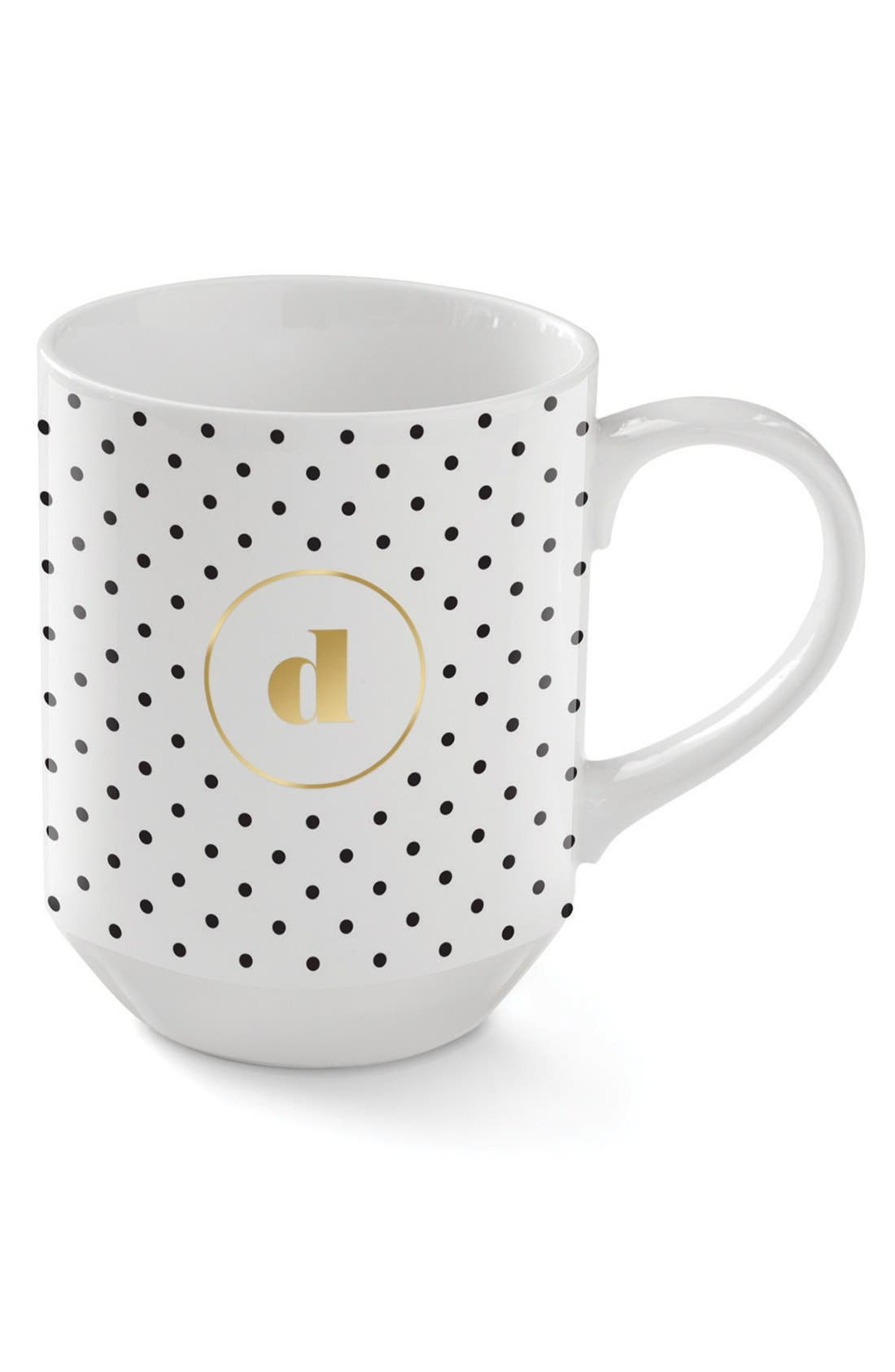 'Polka Dots' Monogram Mug,                             Main thumbnail 1, color,                             100