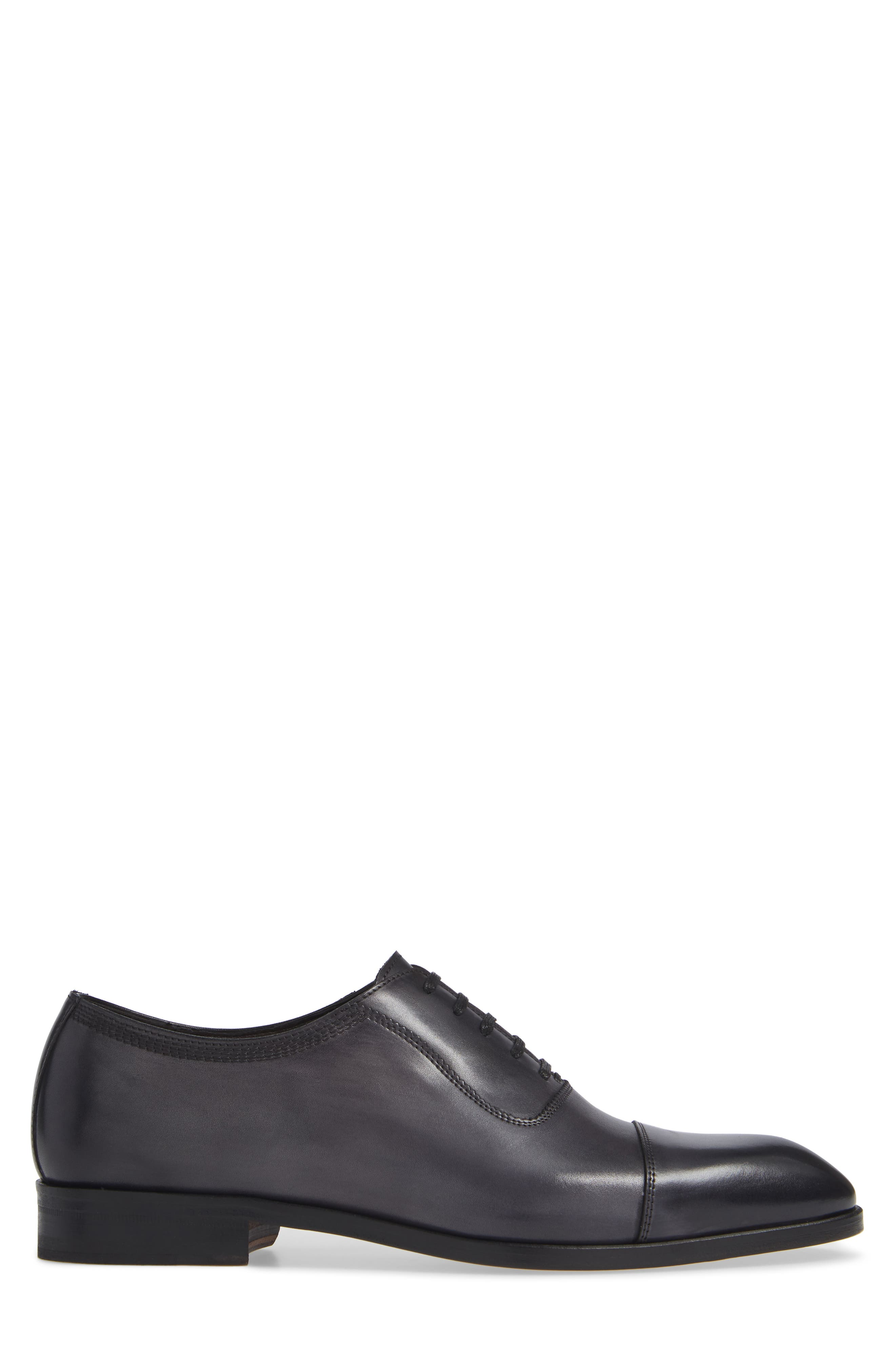 Lucerne Cap Toe Oxford,                             Alternate thumbnail 3, color,                             GREY LEATHER