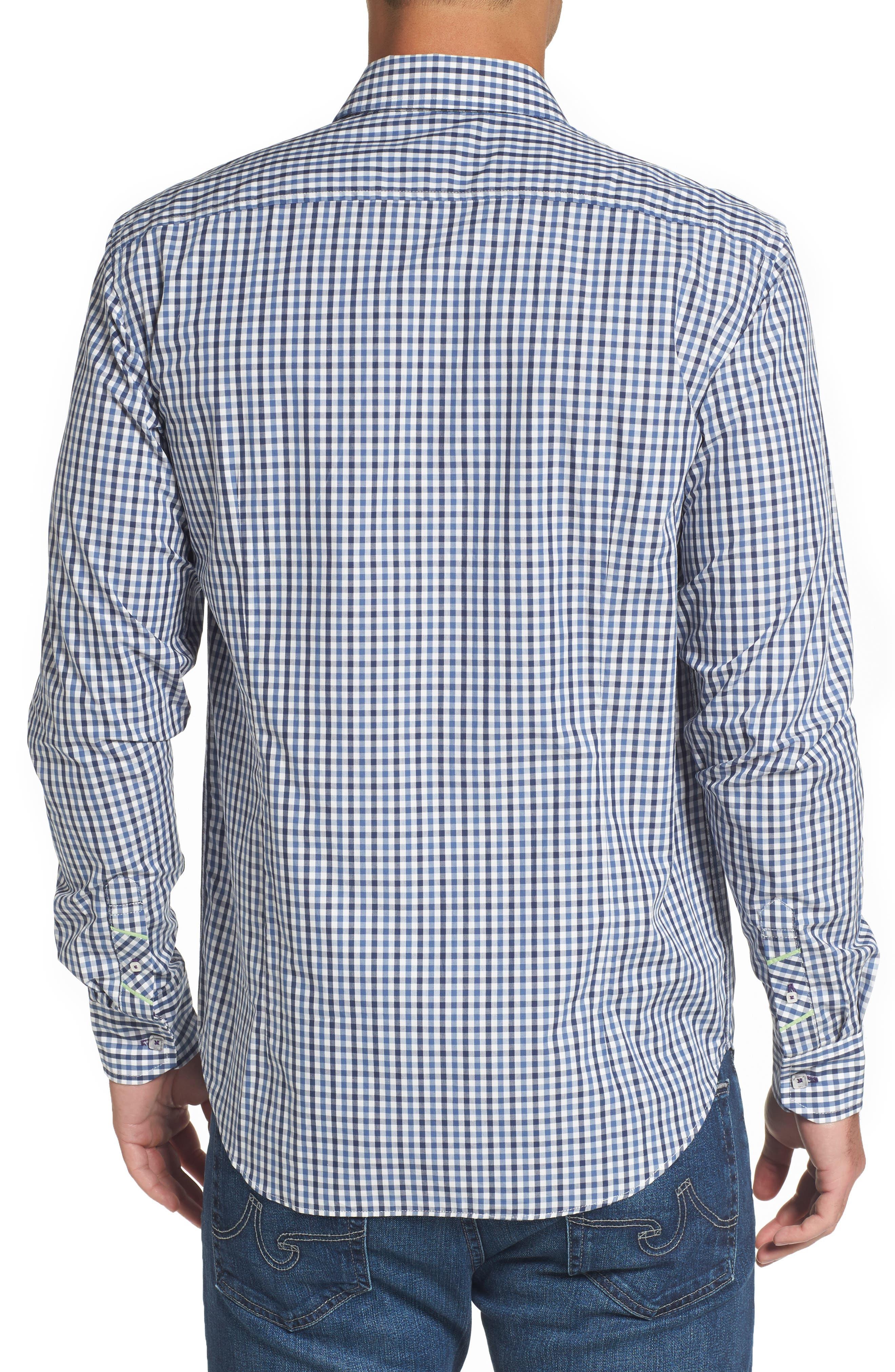 Comfort Fit Check Sport Shirt,                             Alternate thumbnail 2, color,                             424