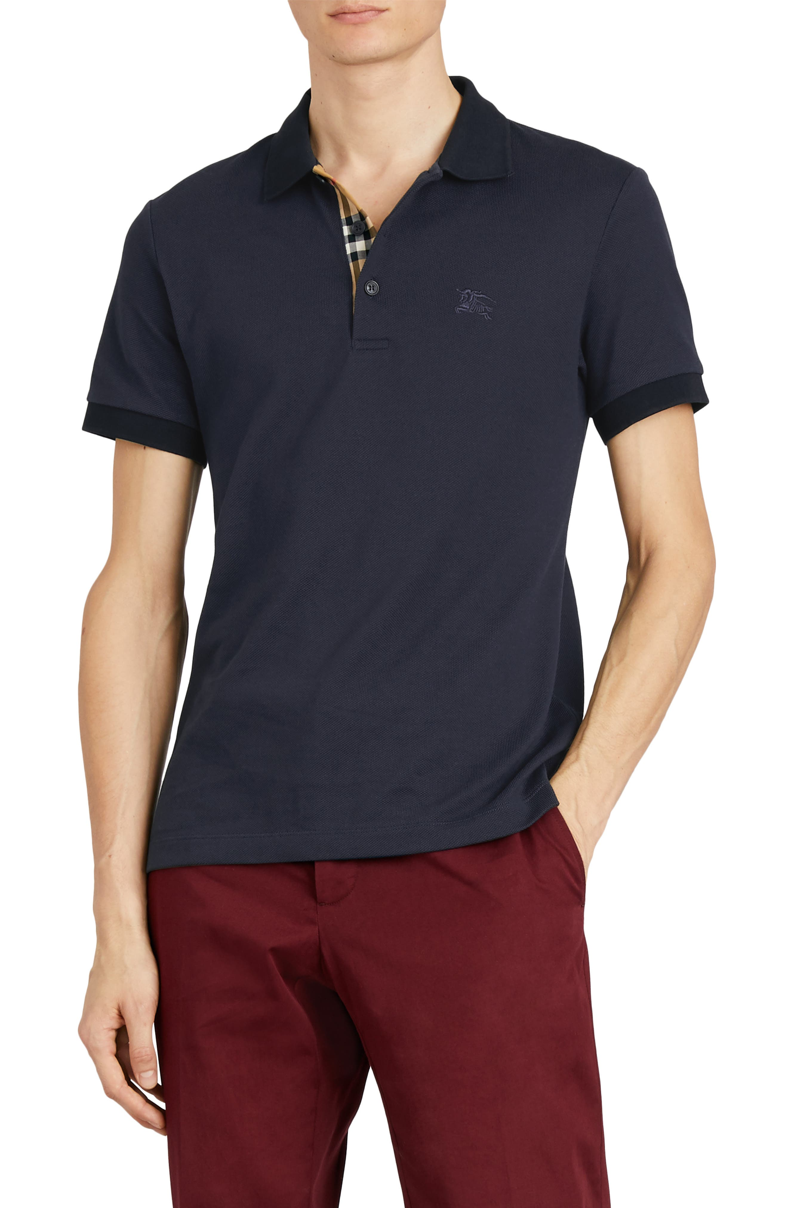 Hartford Cotton Polo Shirt,                         Main,                         color, NAVY
