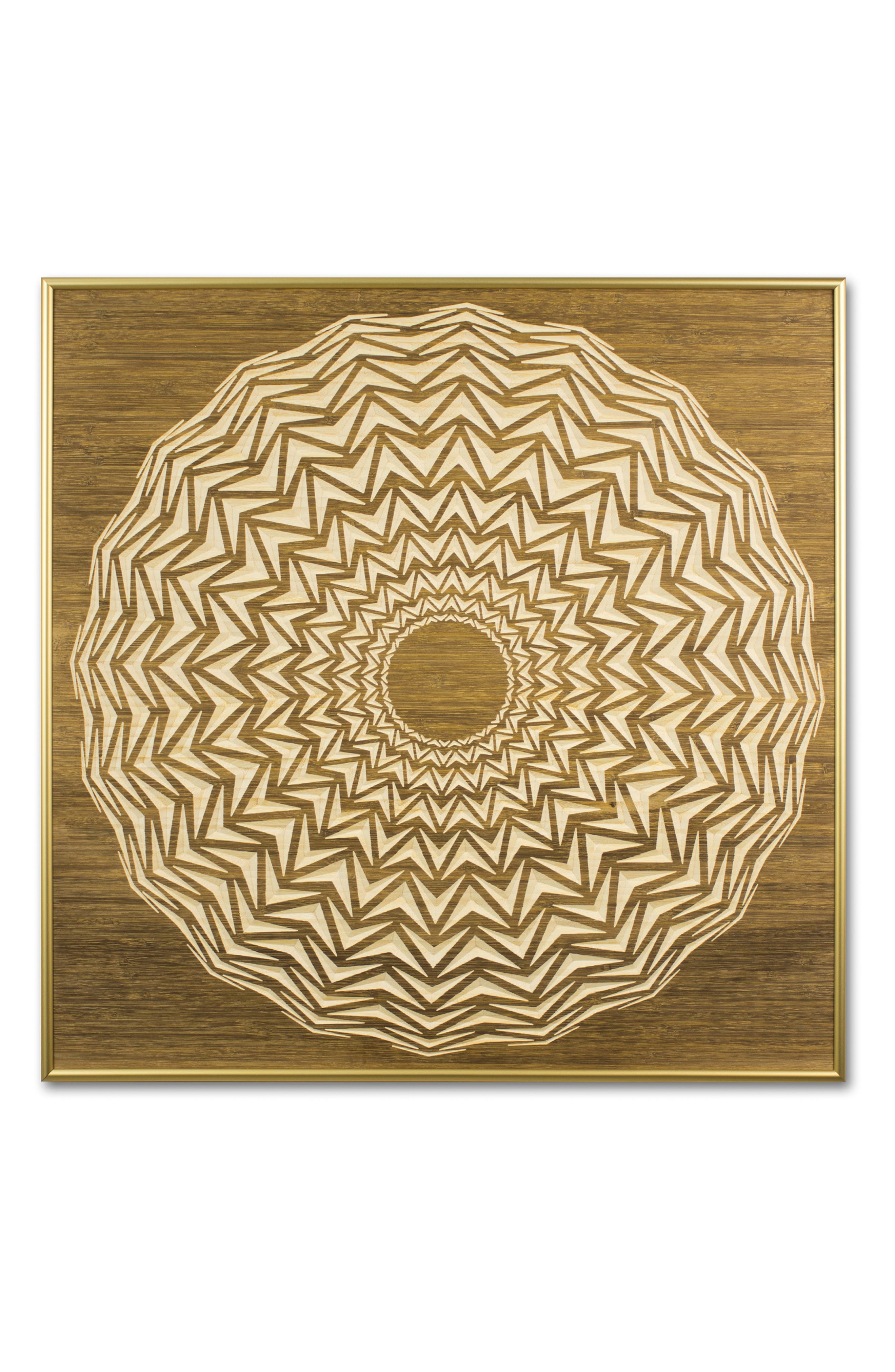 Radial 18 Wooden Wall Art, Main, color, STAIN