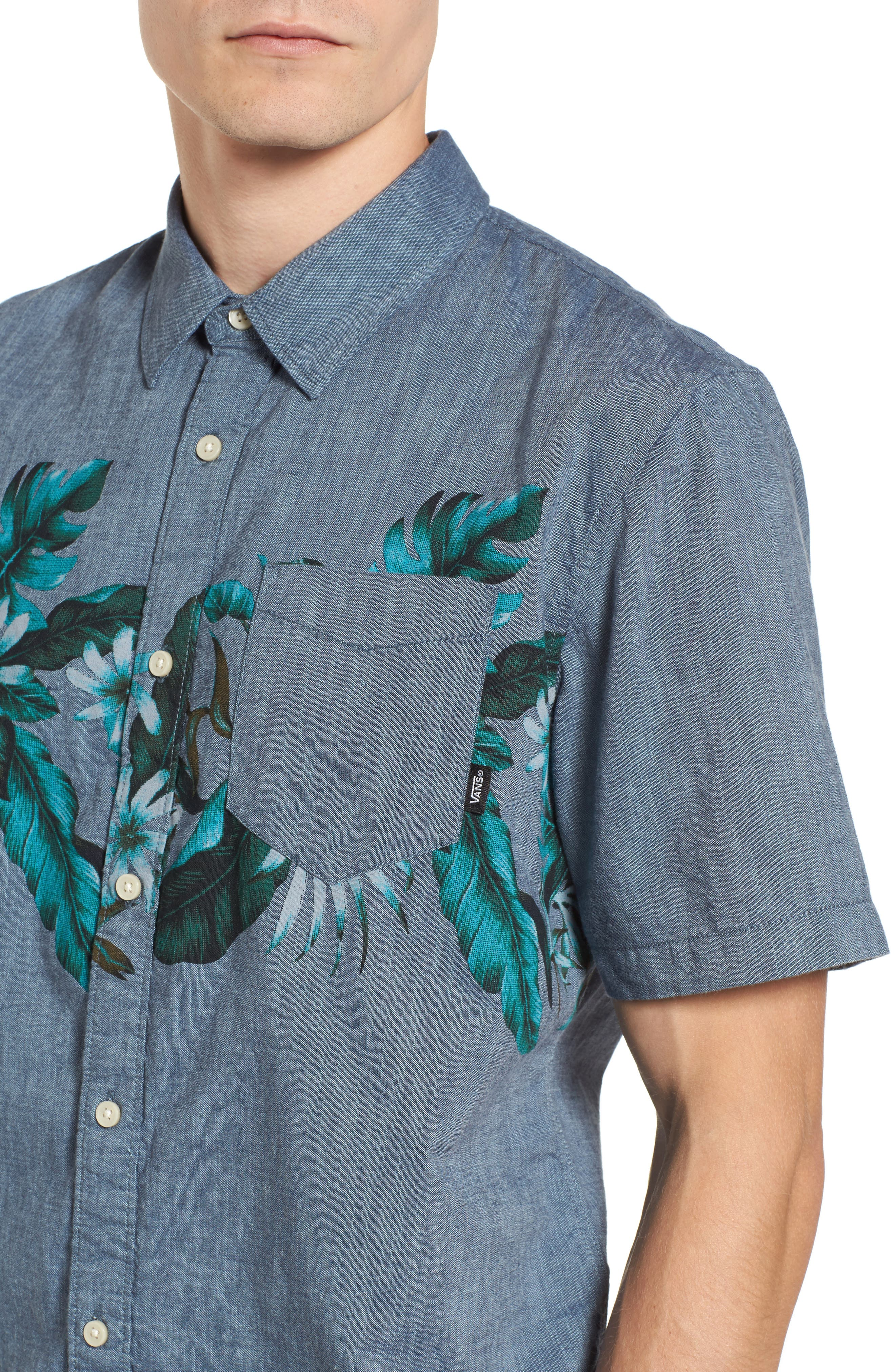 Floral Woven Shirt,                             Alternate thumbnail 4, color,