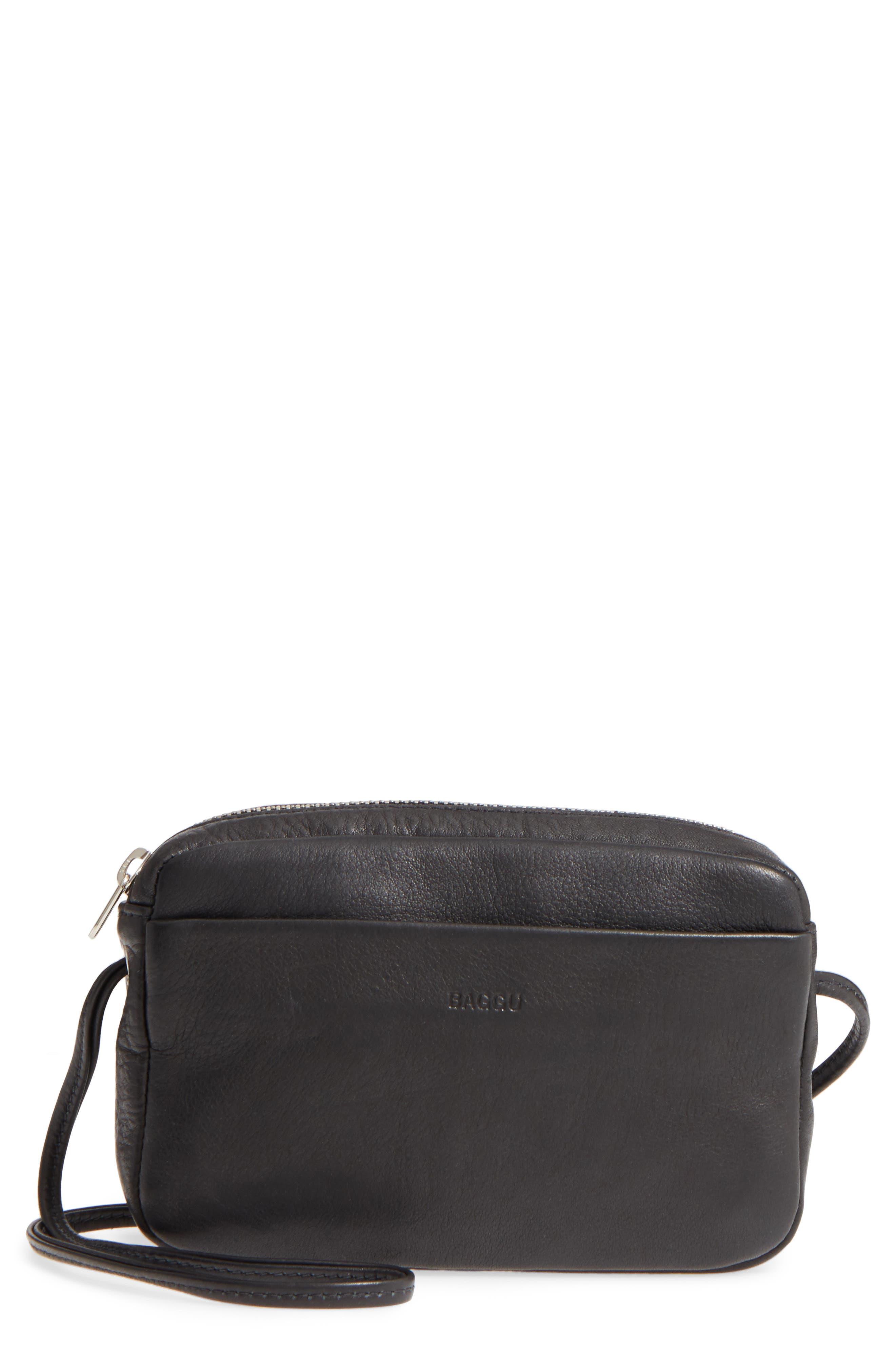'Mini' Pebbled Leather Crossbody,                         Main,                         color, 005