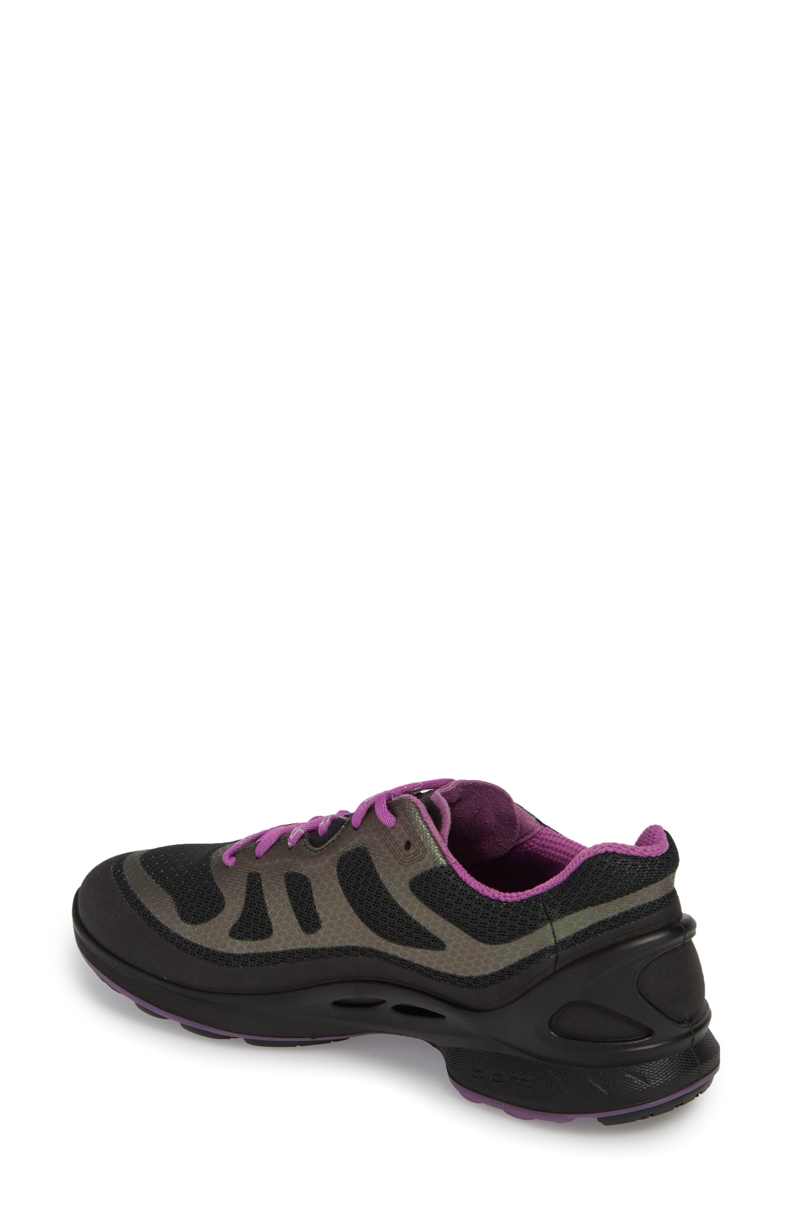 BIOM Fjuel Tie Sneaker,                             Alternate thumbnail 2, color,                             BLACK FABRIC
