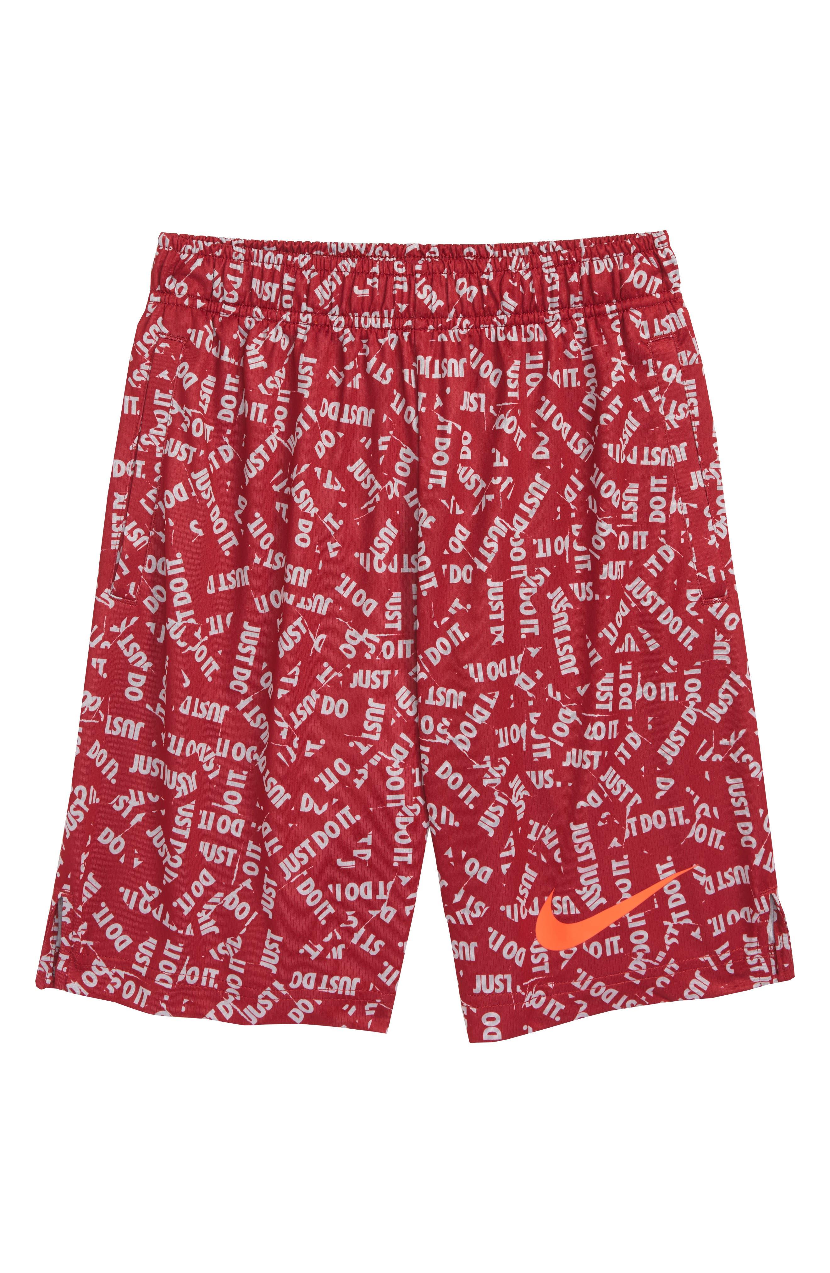 Dry Shorts,                             Main thumbnail 1, color,                             RED CRUSH/ BRIGHT CRIMSON
