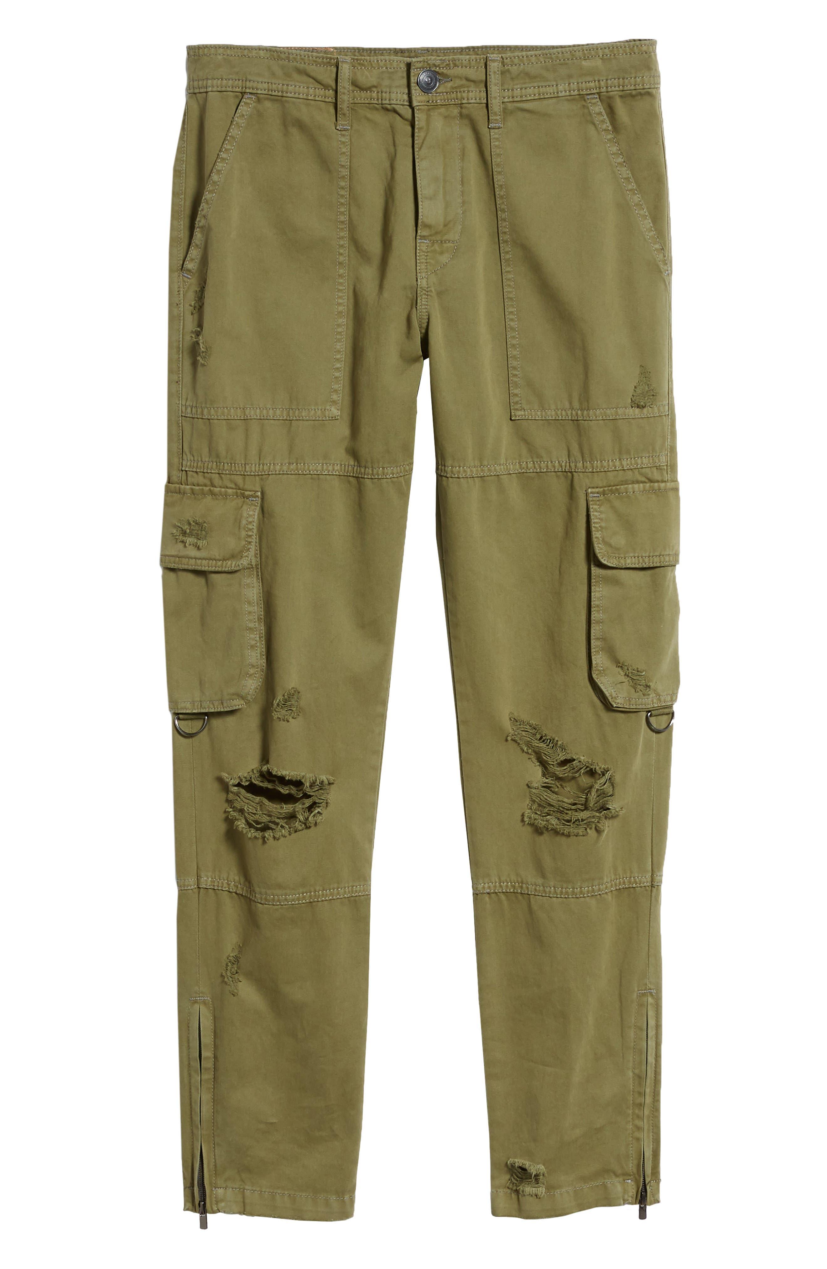Military Cargo Pants,                             Alternate thumbnail 6, color,                             MIST GREEN