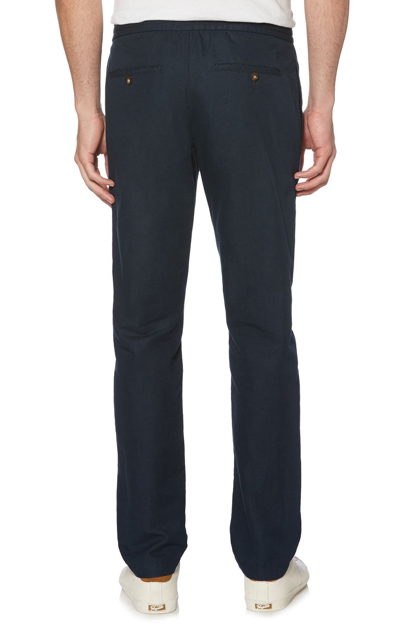 Linen Blend Pants,                             Alternate thumbnail 4, color,
