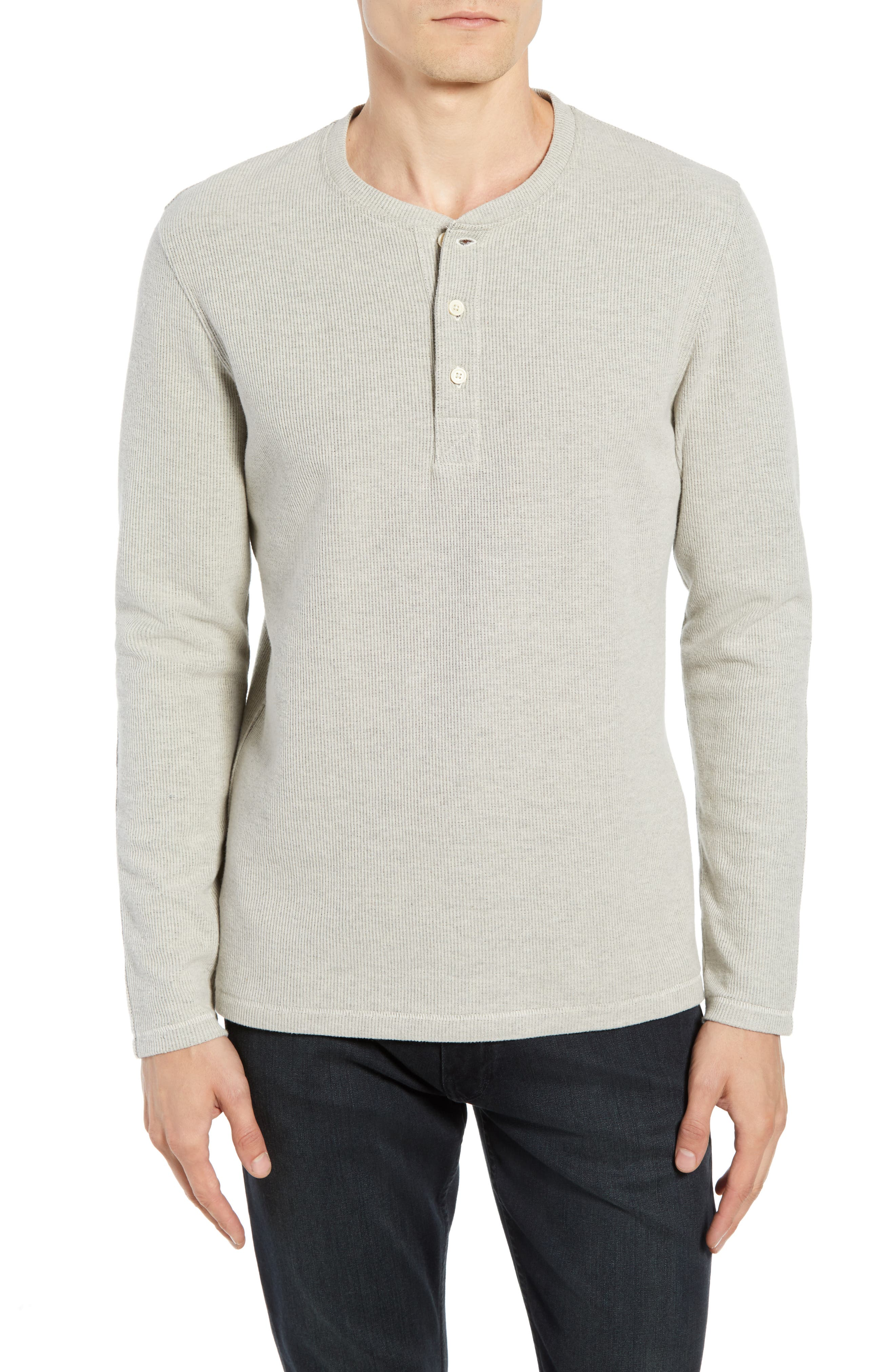 BILLY REID Ribbed Long Sleeve Henley, Main, color, NATURAL