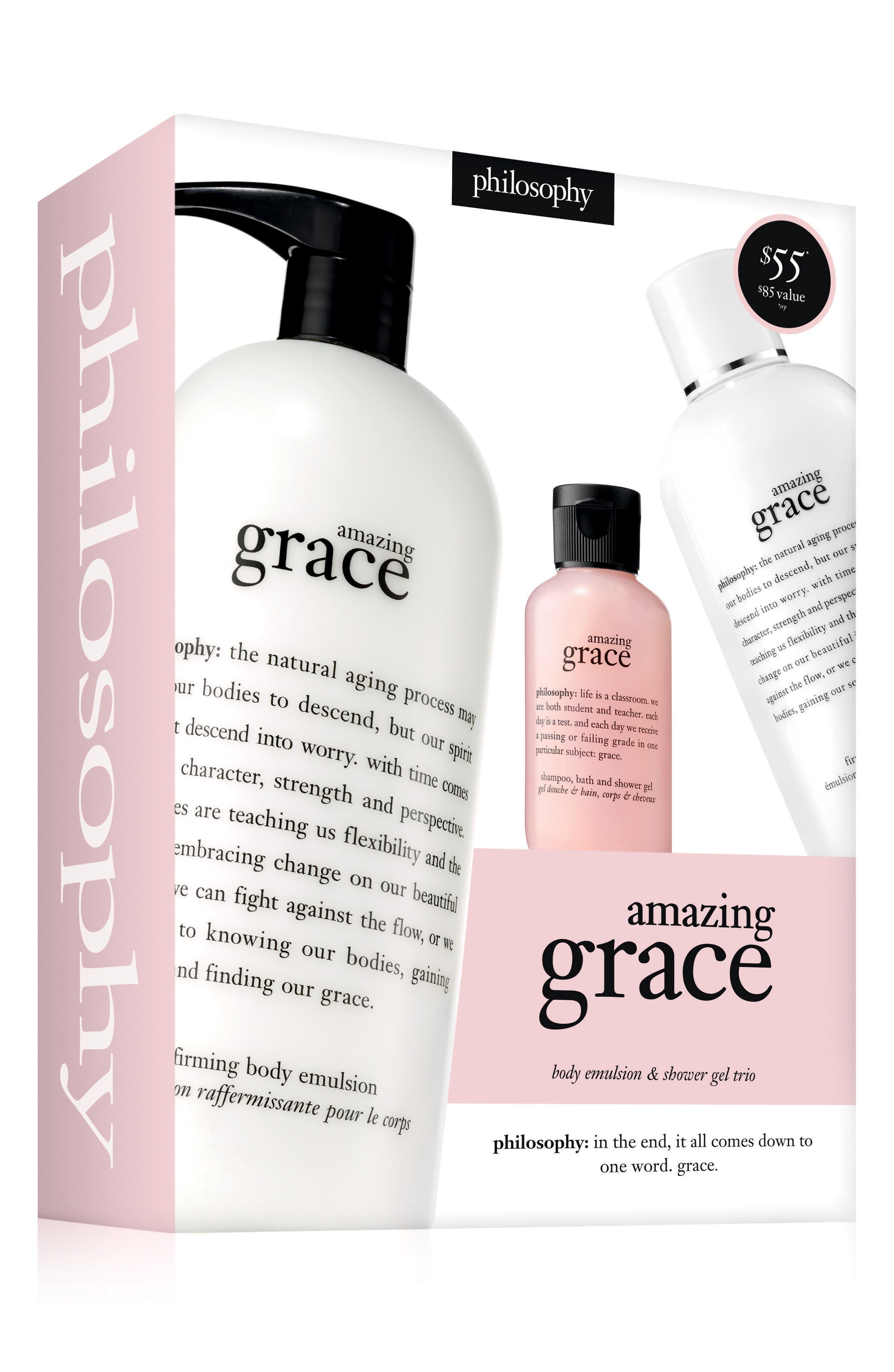 amazing grace body emulsion & shower gel set,                             Alternate thumbnail 2, color,