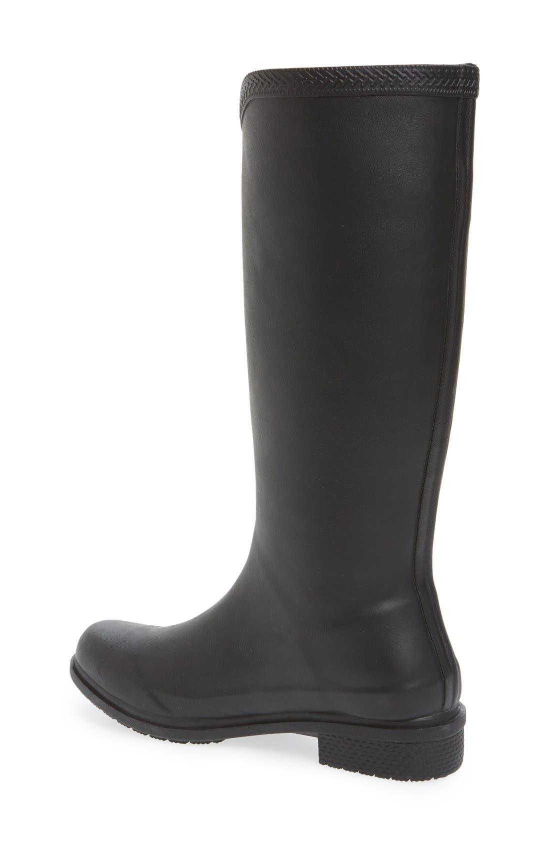 'Galochas Hi Matte' Waterproof Rain Boot,                             Alternate thumbnail 2, color,                             001