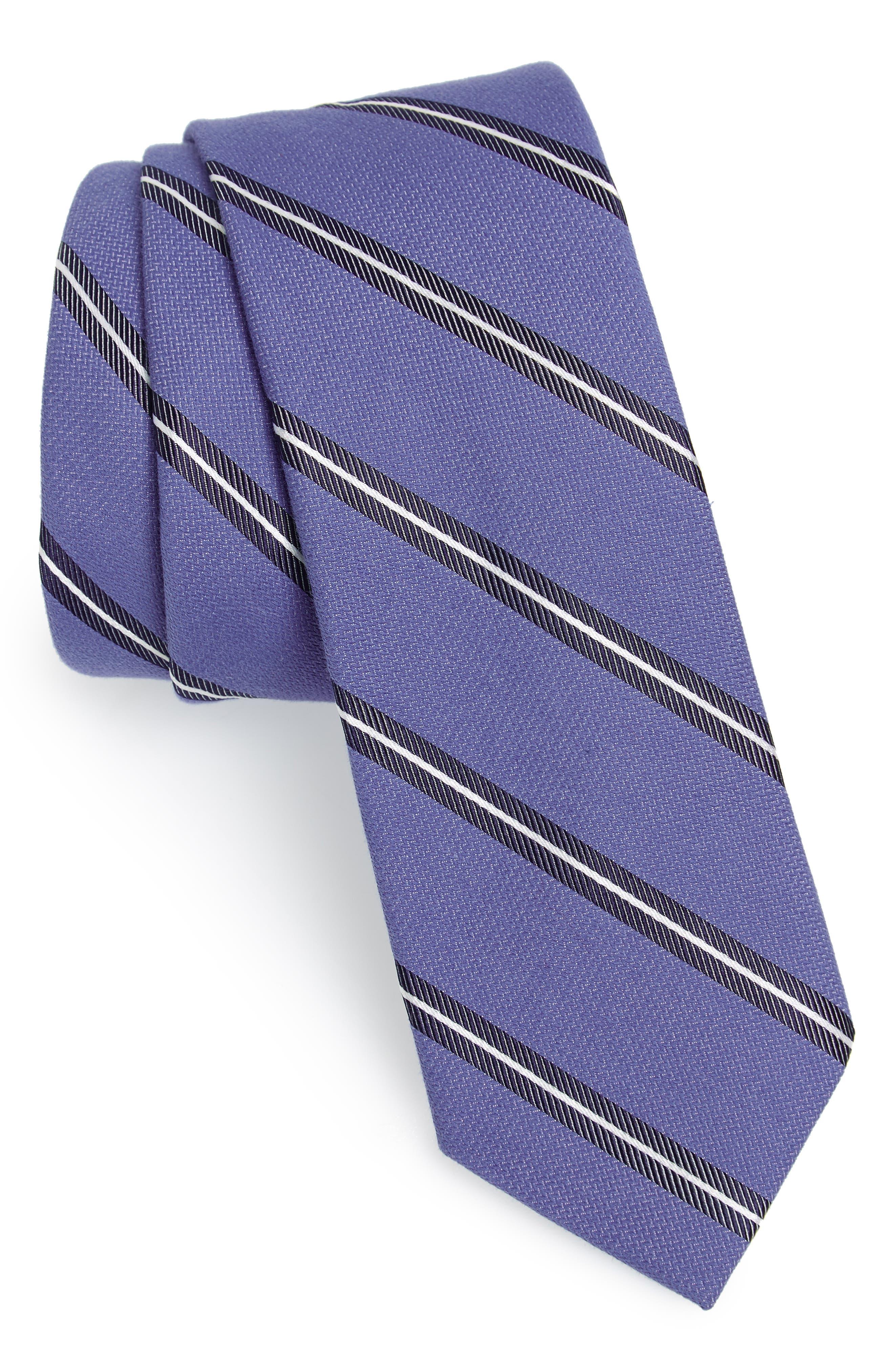 Edinger Stripe Silk & Cotton Tie,                             Main thumbnail 3, color,