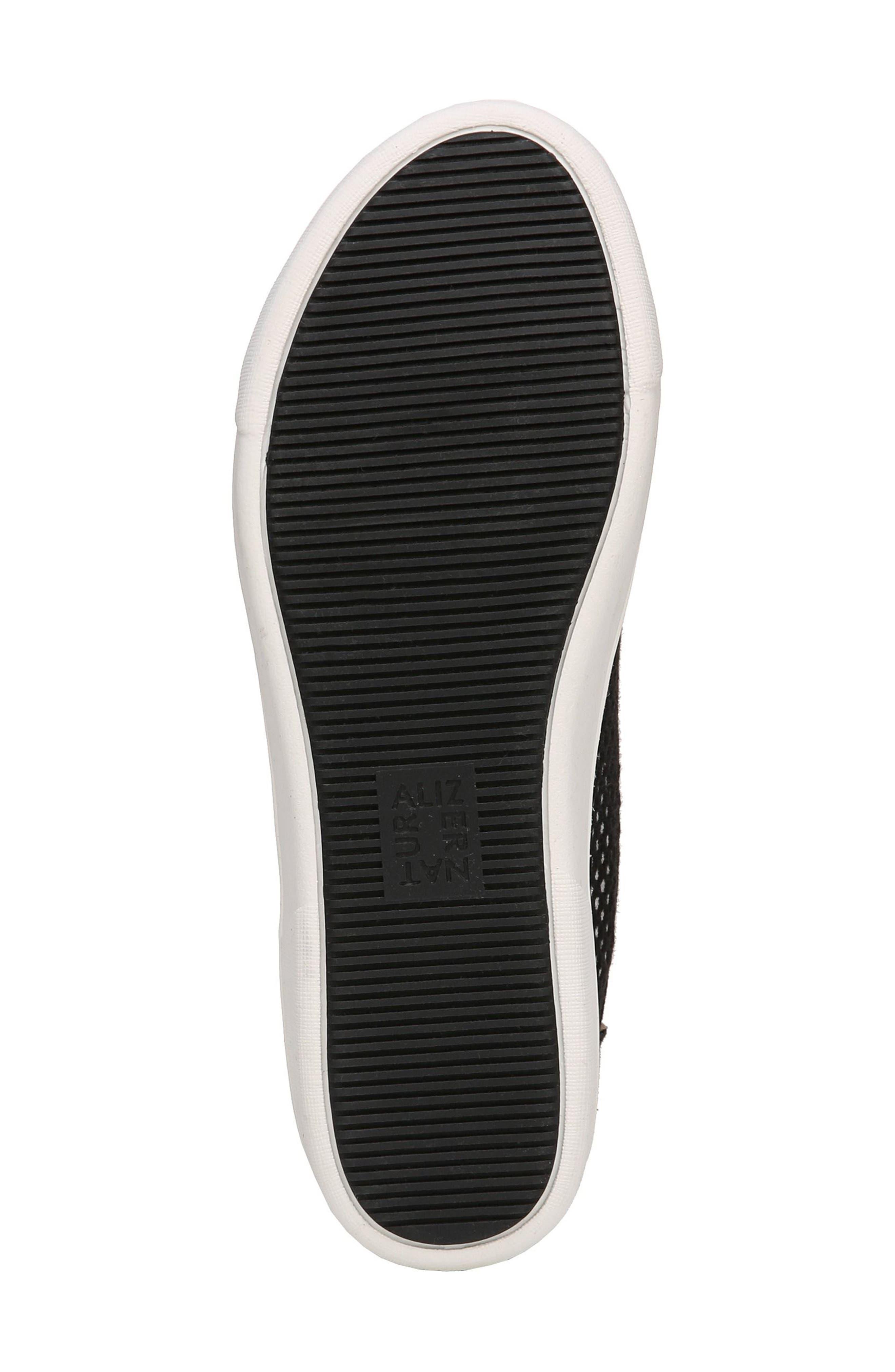 Morrison III Perforated Sneaker,                             Alternate thumbnail 6, color,                             BLACK FABRIC