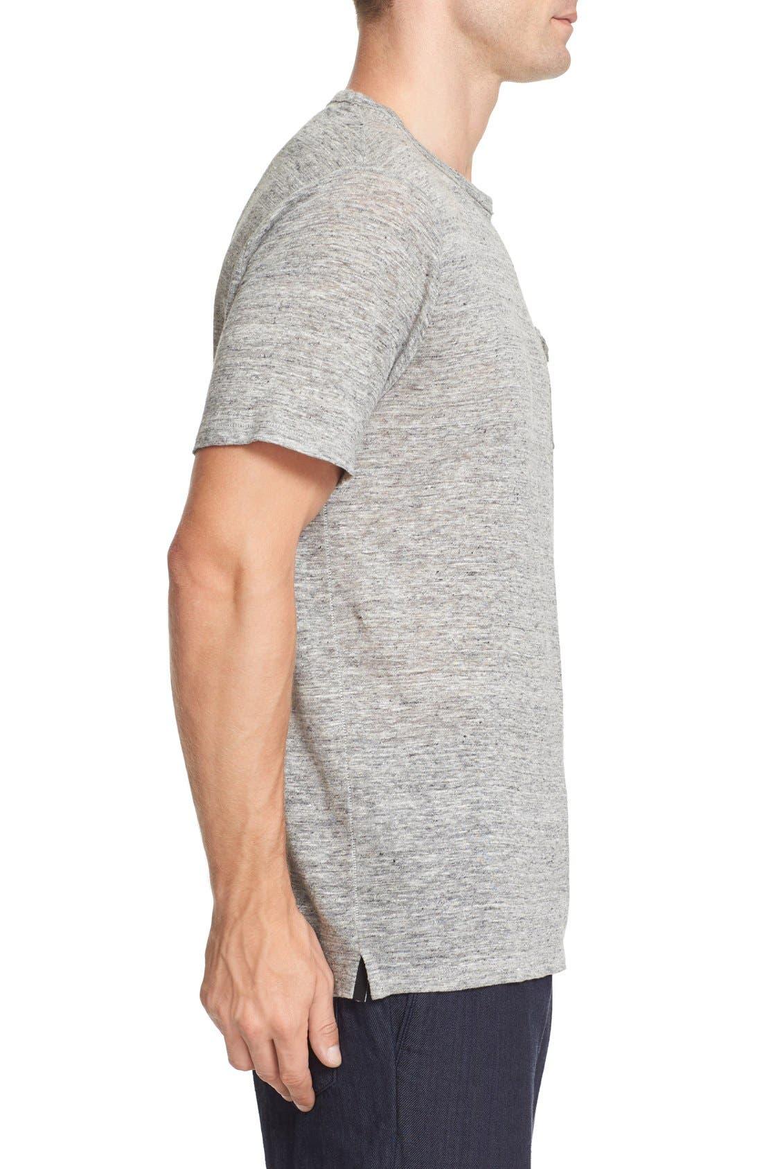 Owen Slub Linen T-Shirt,                             Alternate thumbnail 3, color,                             020