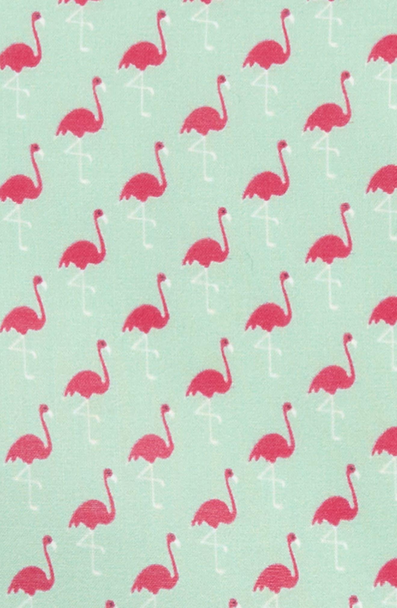 Fenwick Flamingo Cotton & Silk Pocket Square,                             Alternate thumbnail 3, color,                             MINT