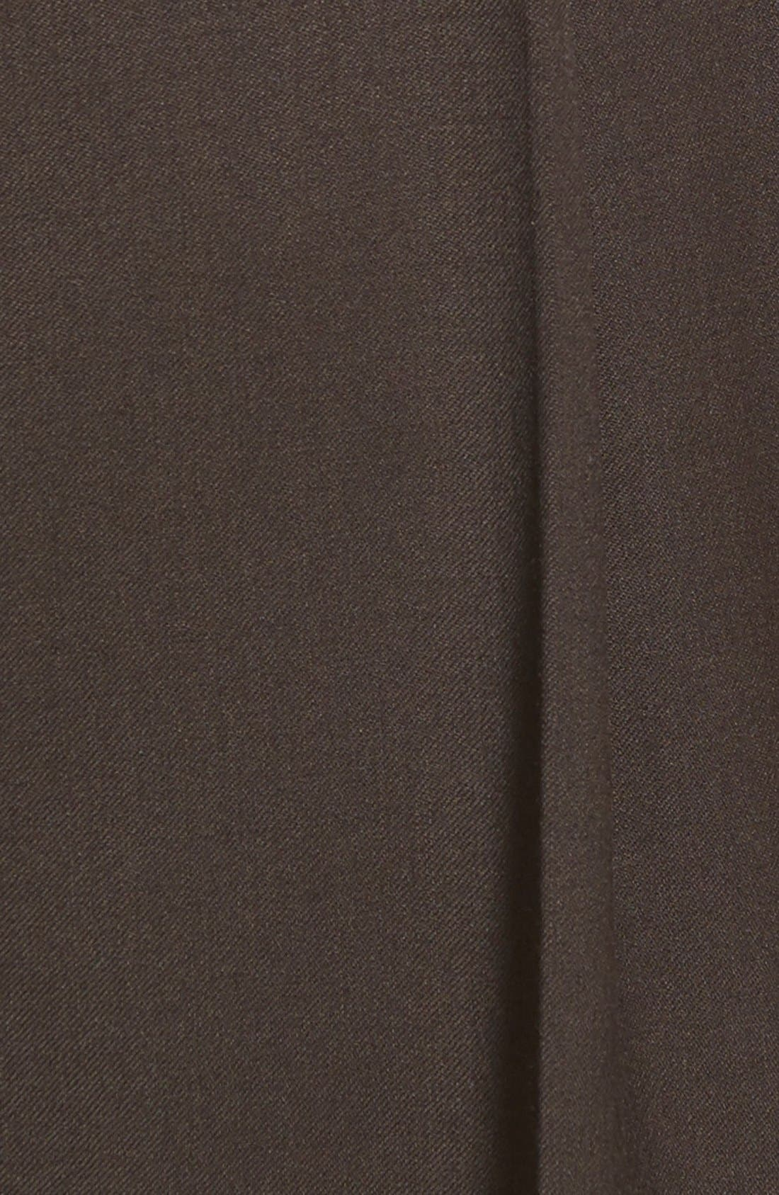 Pleated Solid Wool Trousers,                             Alternate thumbnail 59, color,
