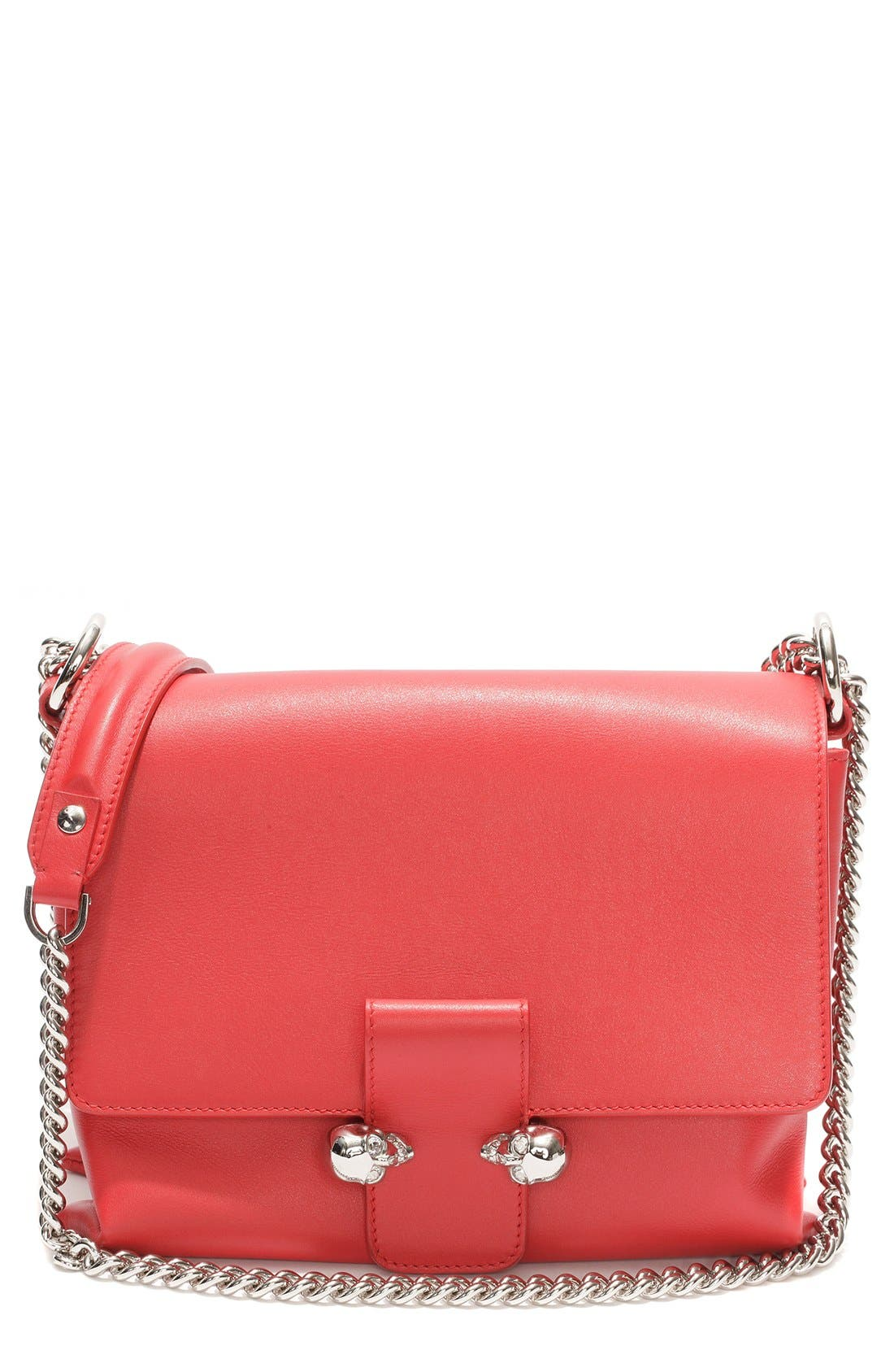 'Medium Twin Skull' Flap Shoulder Bag,                         Main,                         color,