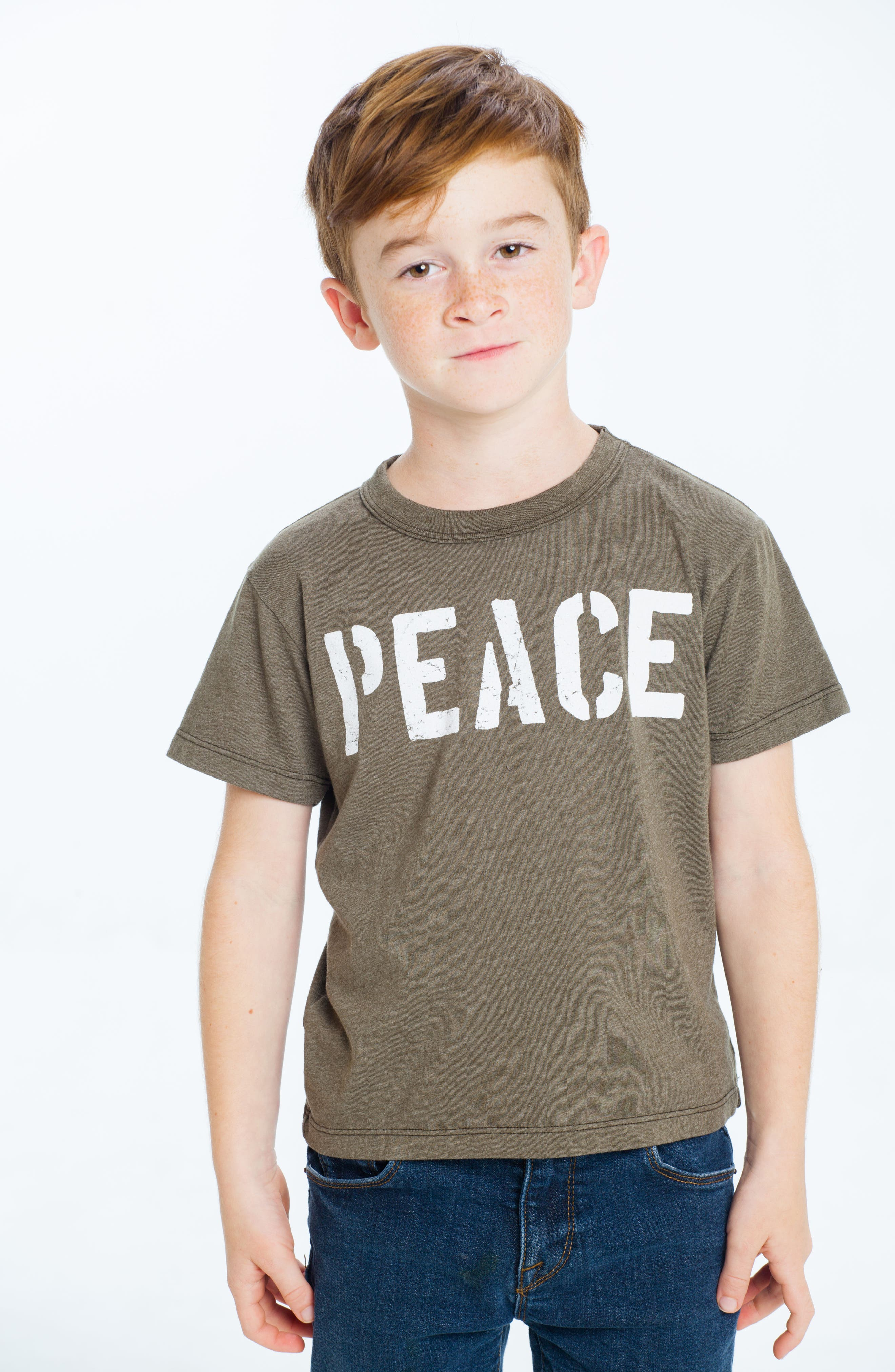Peace Graphic T-Shirt,                             Alternate thumbnail 3, color,                             305