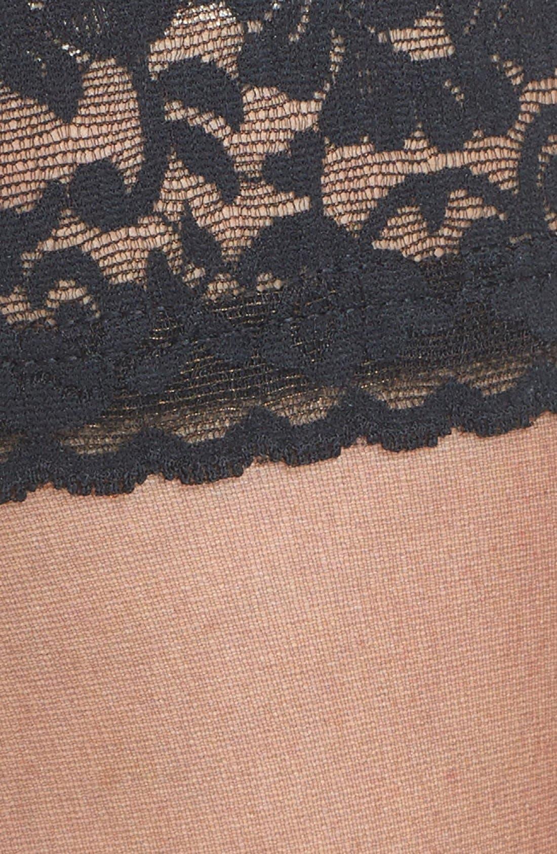 Stay-Up Stockings,                             Alternate thumbnail 2, color,                             FANTASY BLACK