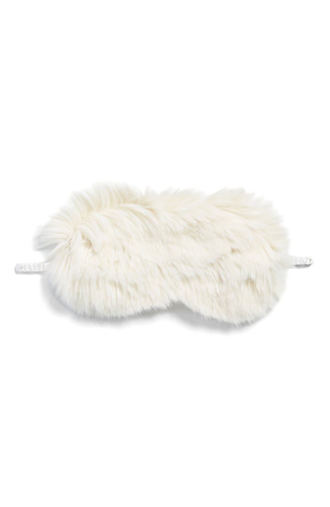 Nordstrom Faux Fur Eye Mask,                             Main thumbnail 4, color,