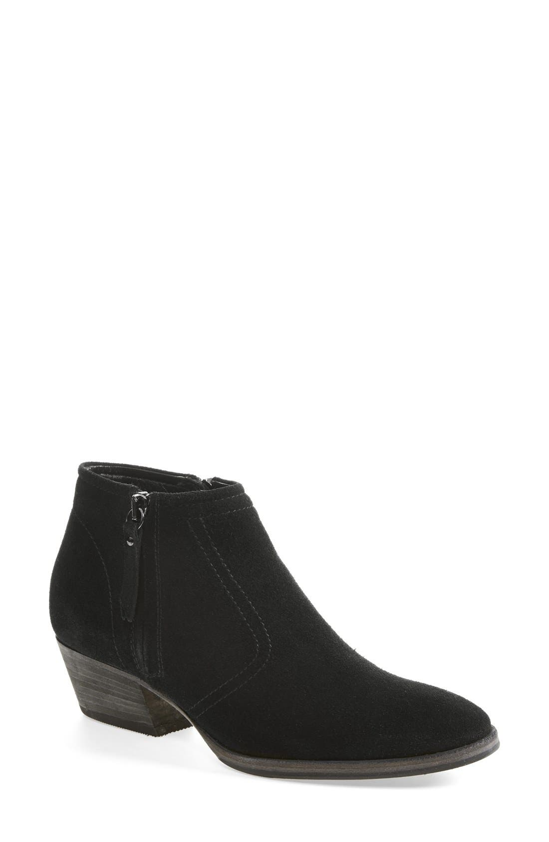 by Marvin K 'Finn' Weatherproof Suede Bootie,                             Main thumbnail 1, color,                             001