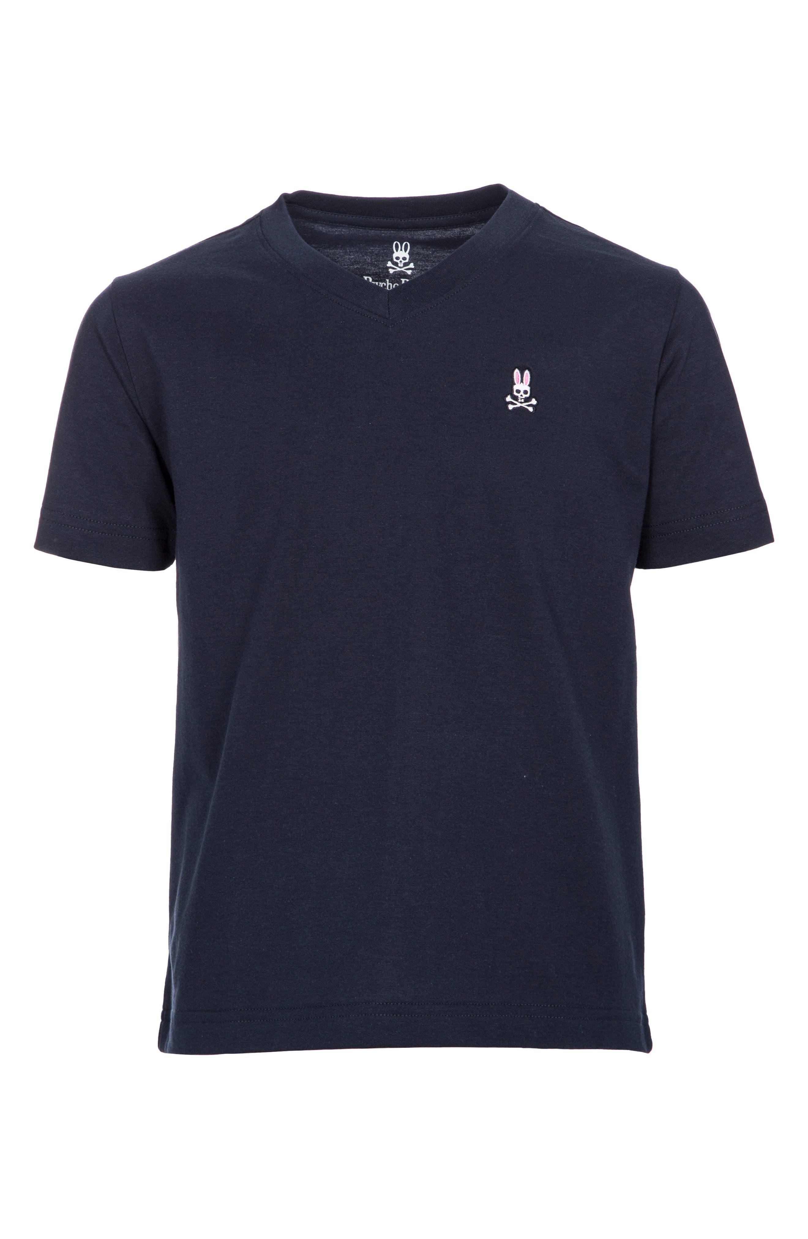 V-Neck T-Shirt,                         Main,                         color, NAVY